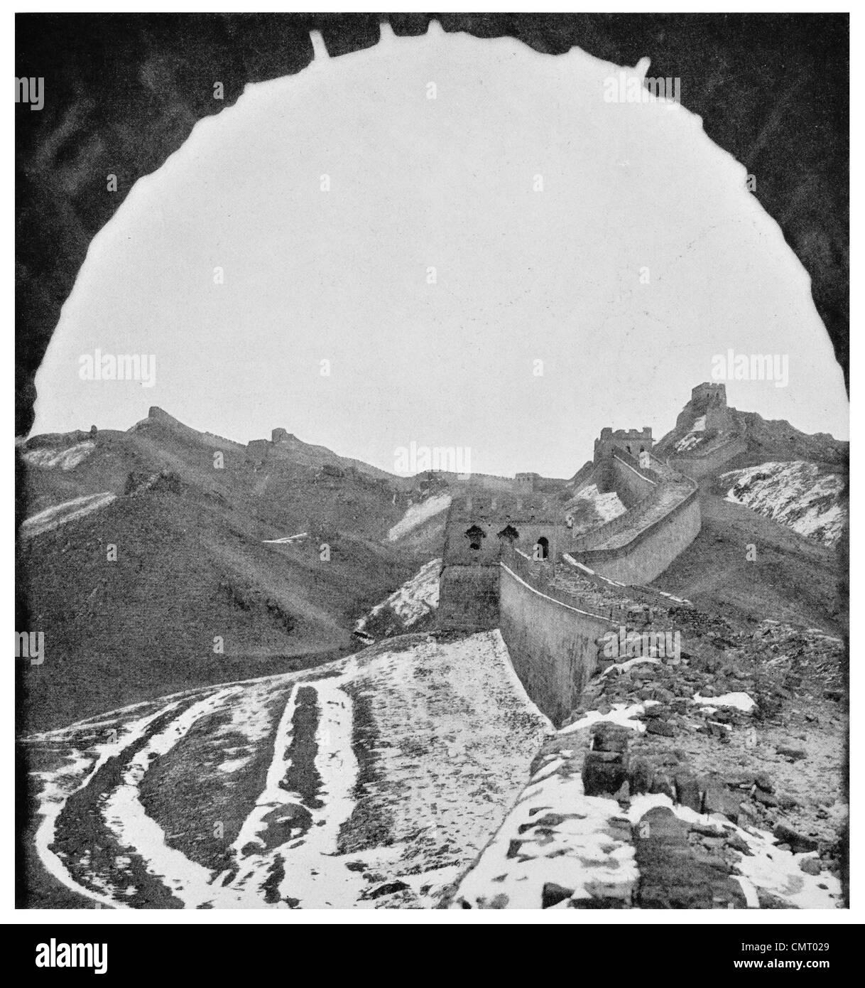 1923 Great Wall of China near Kupehkow - Stock Image