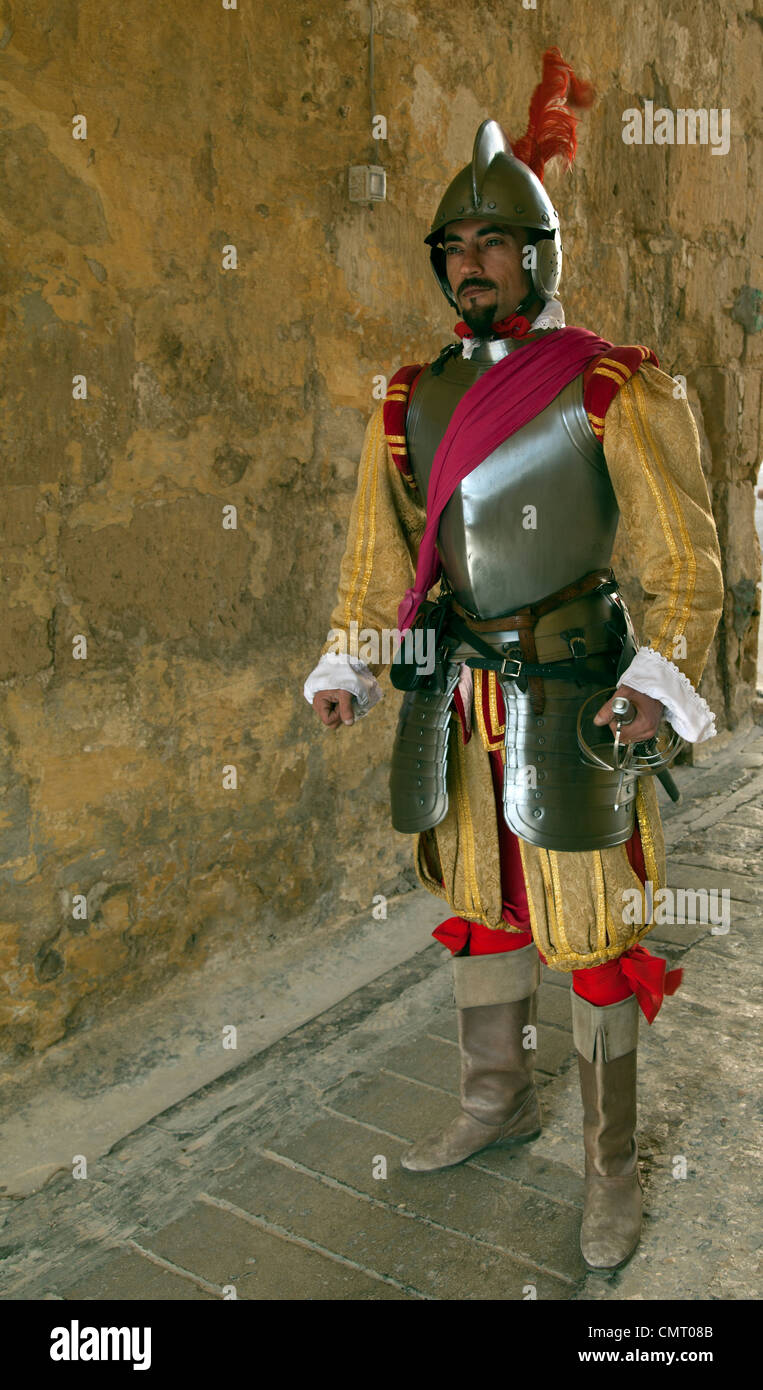 Full length portrait of man in body armour - Stock Image