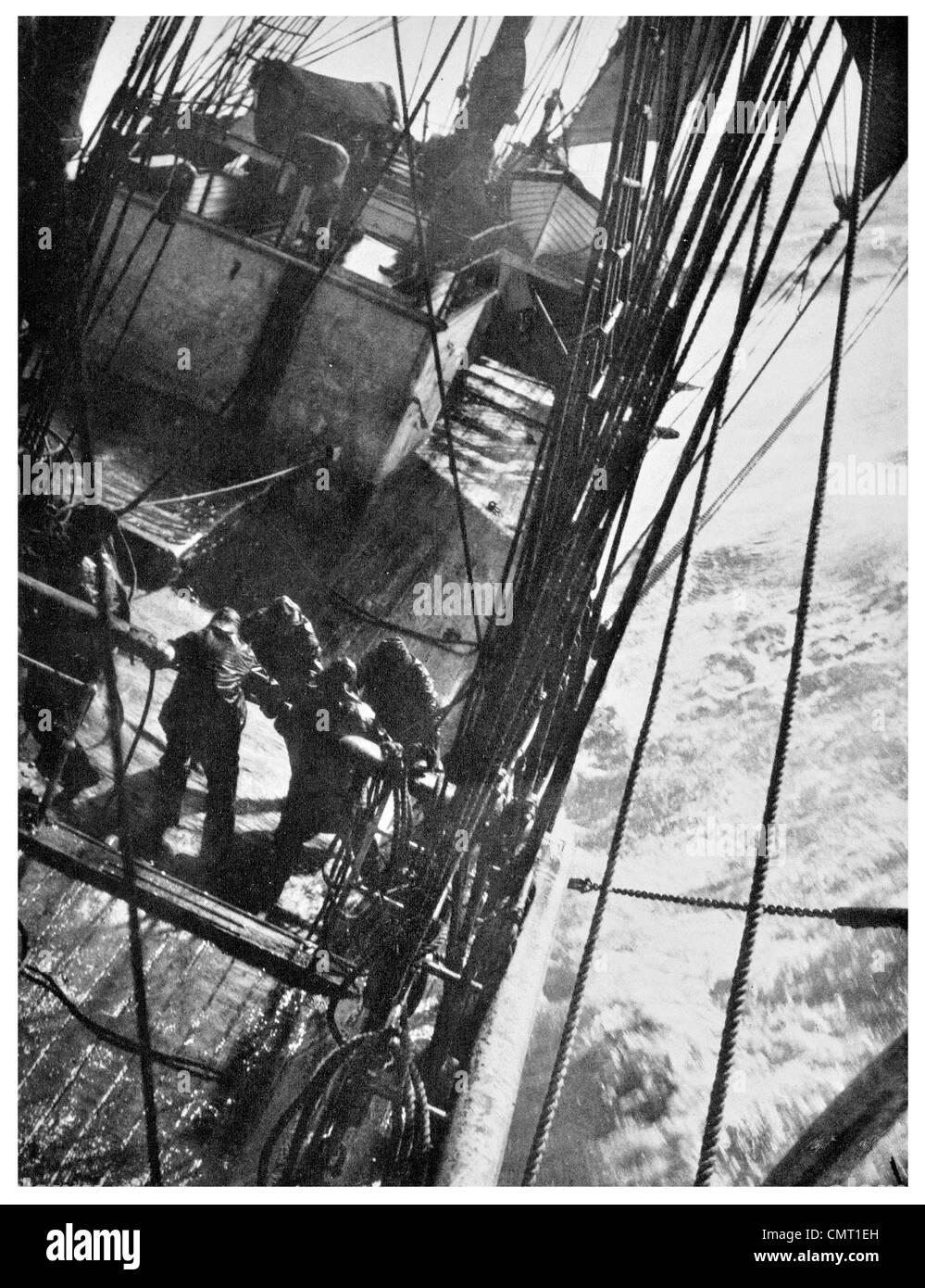 1912 Terra Nova Gale High seas  Antarctica British Antarctic Expedition - Stock Image