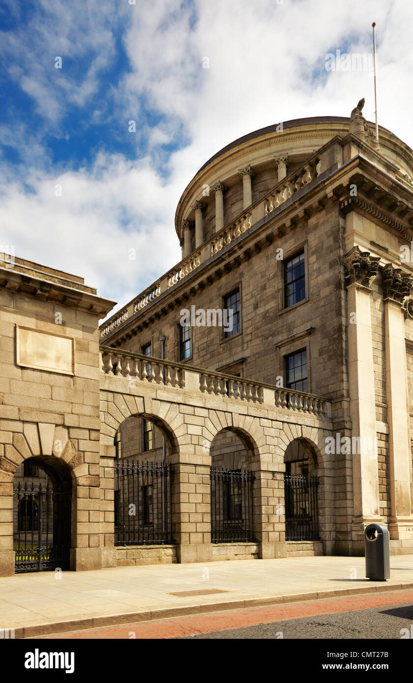 View of the Bank of Ireland in summer, Dublin, Ireland. - Stock Image