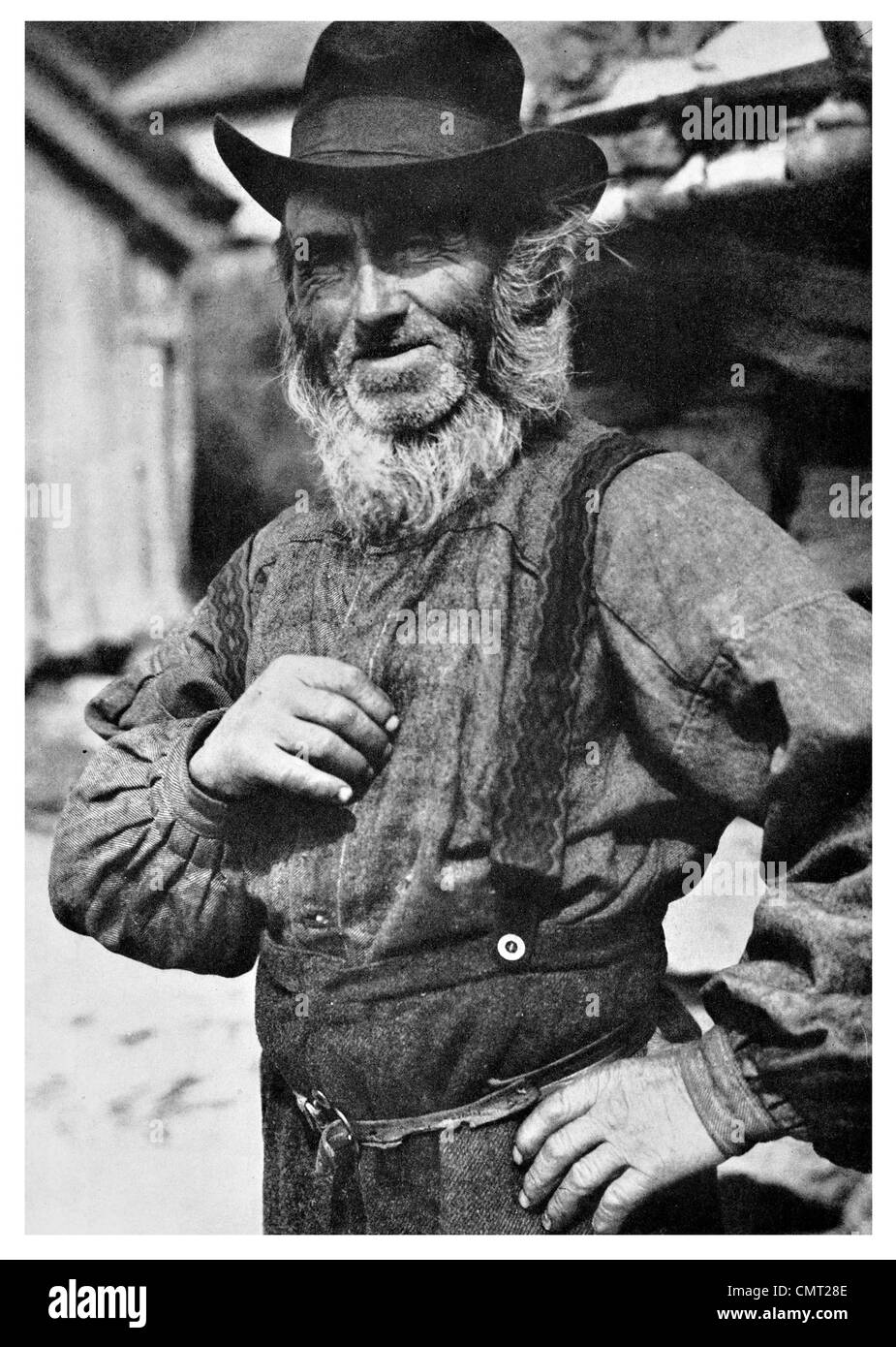 1925 Norwegian Skipper Fisherman sailor Norway Stock Photo