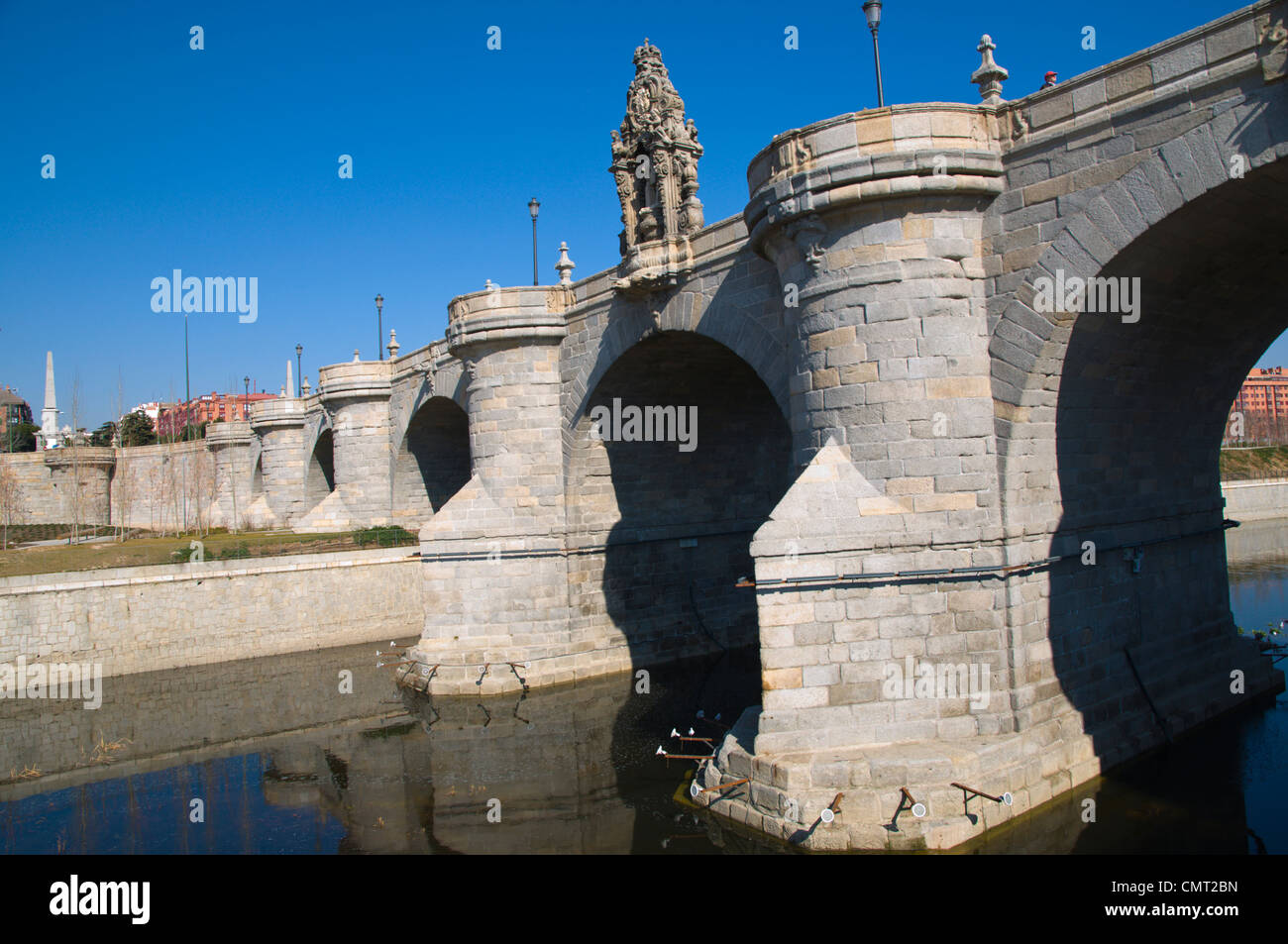 Puente de Toledo bridge Arganzuela district Madrid Spain Europe - Stock Image