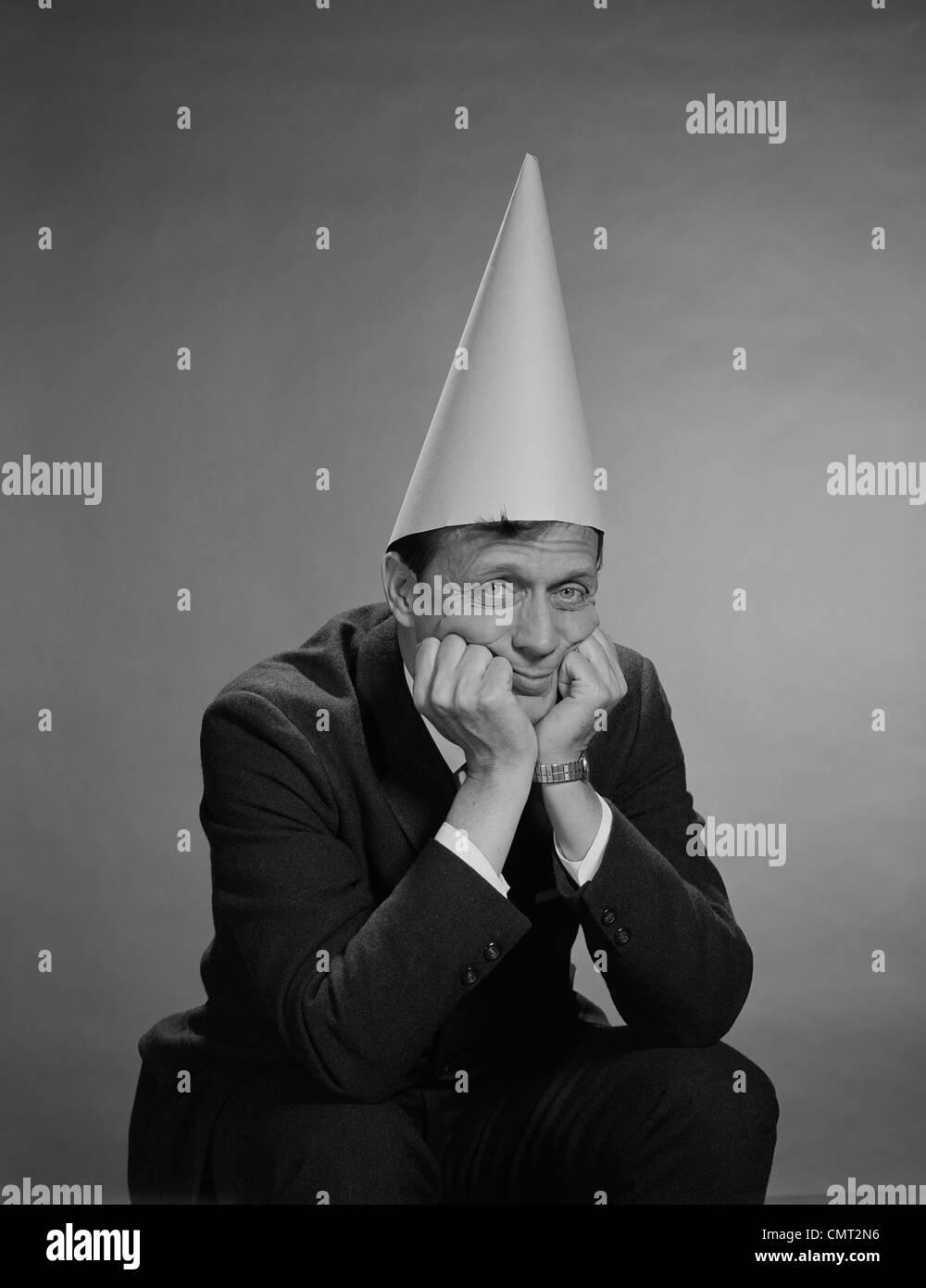 1960s Man Wearing Dunce Cap Stock Photo 47242866 Alamy