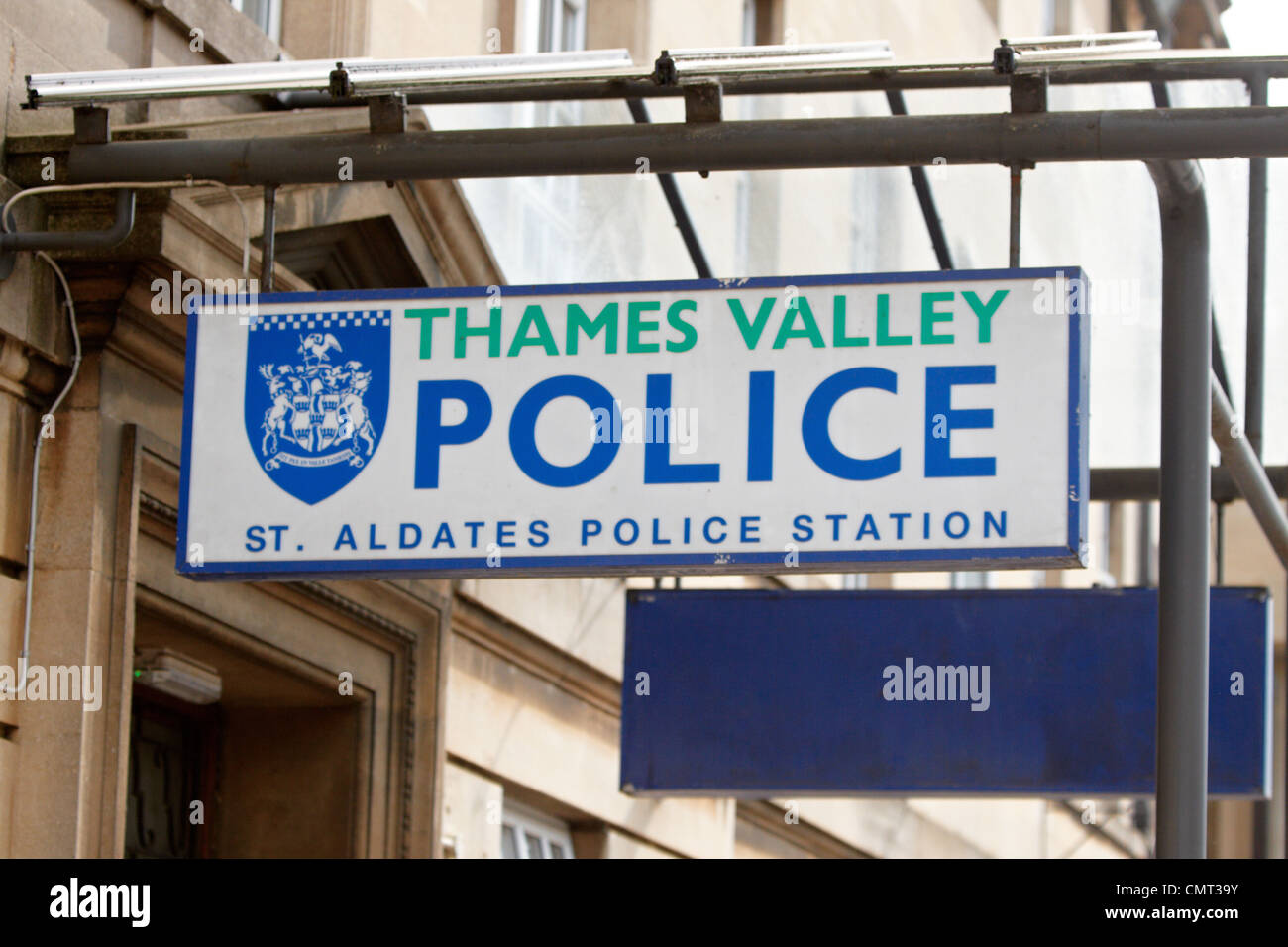 A general view of the Thames Valley Police station on St Aldates in central Oxford - Stock Image