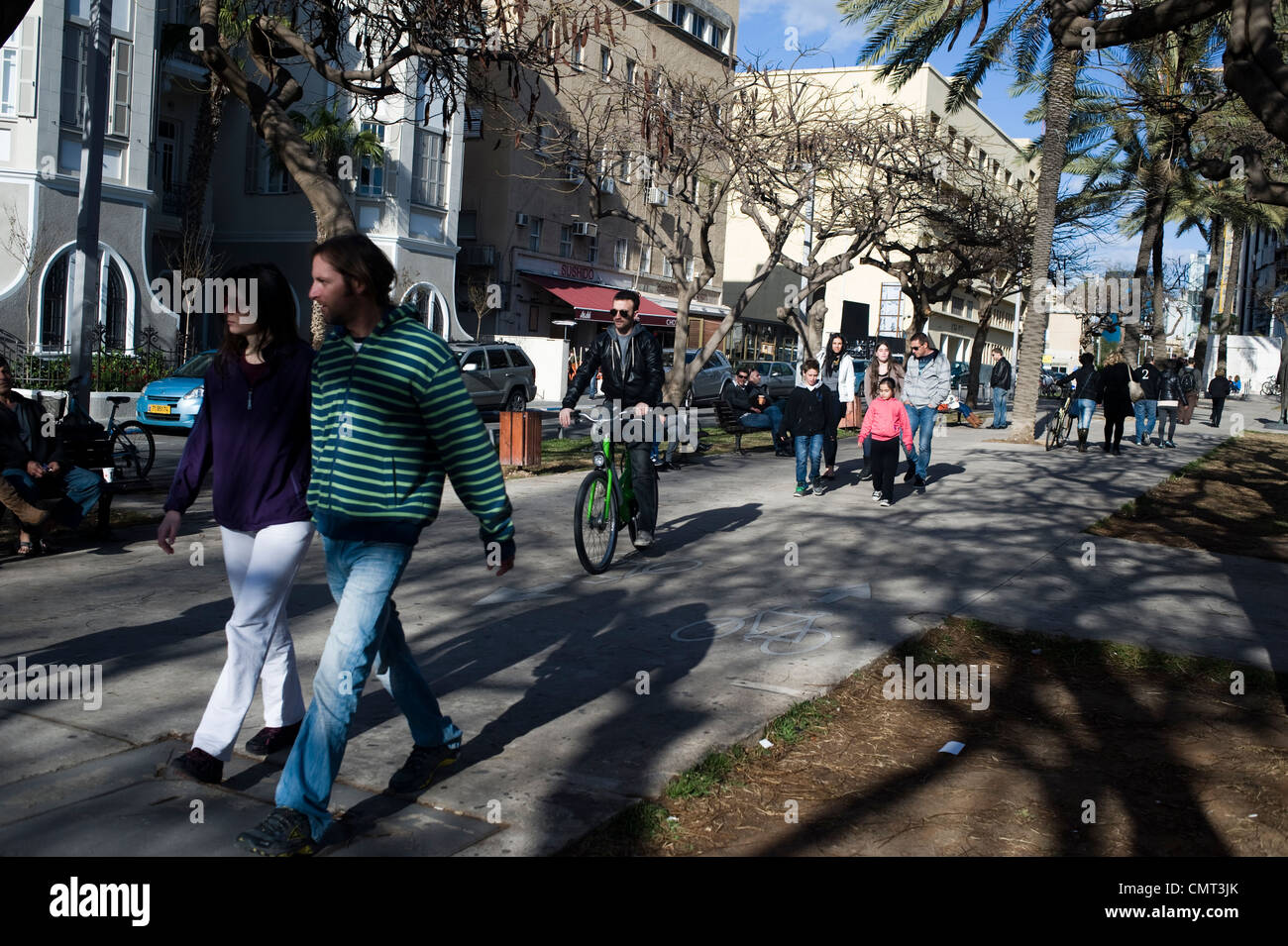 Rothschild Boulevard, Tel Aviv, Israel. - Stock Image