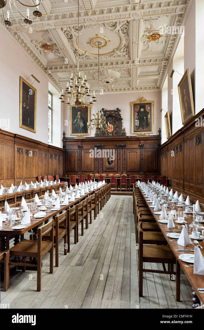 Cambridge University, UK - Dining Hall, Clare College, Cambridge University, England - Stock Image