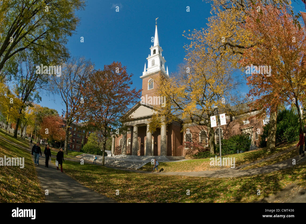 Harvard University - Memorial Church on the Harvard campus, Cambridge, Massachusetts, USA - Stock Image