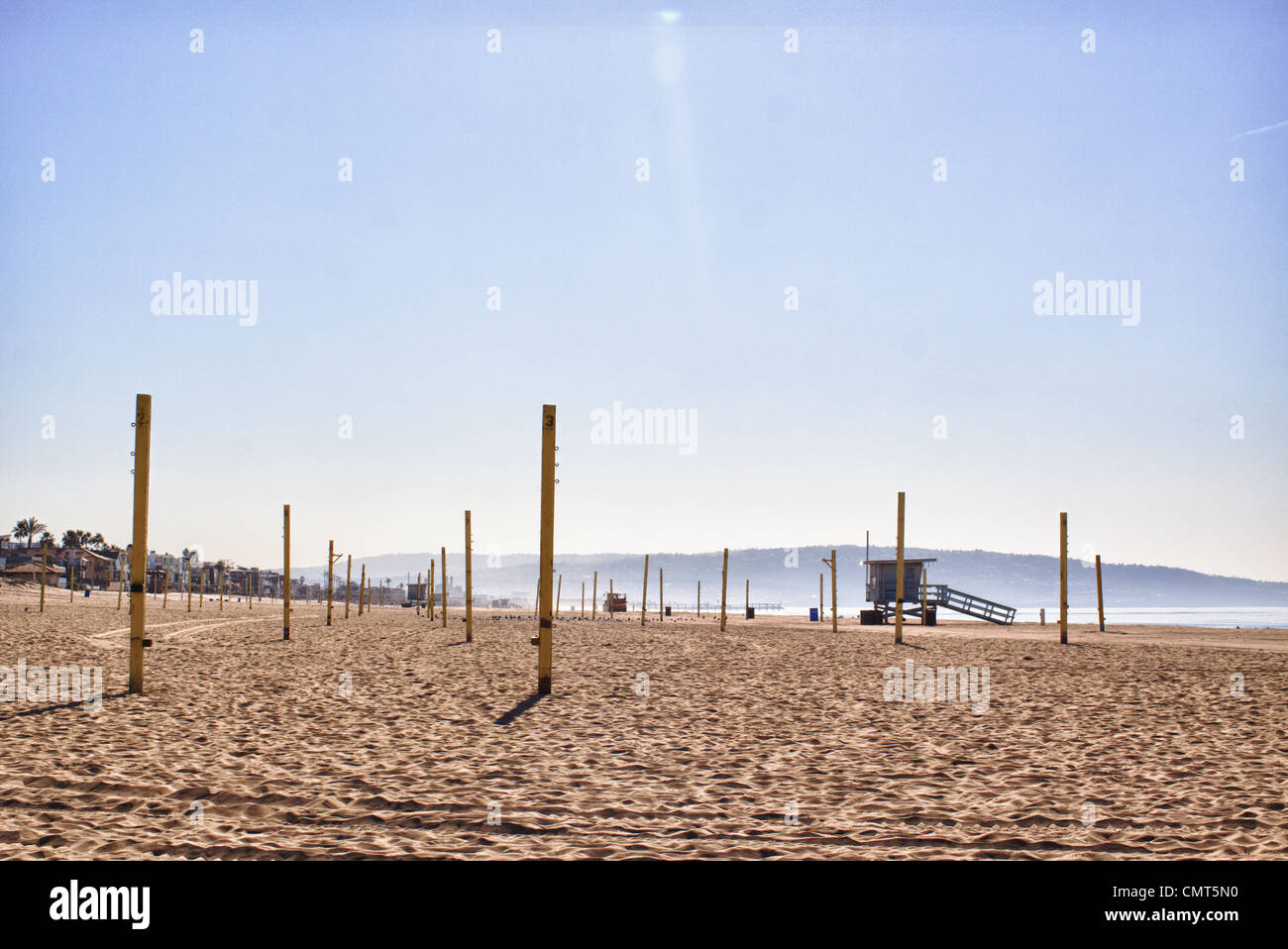 Landscape at Manhattan Beach, Los Angeles, California, USA - Stock Image