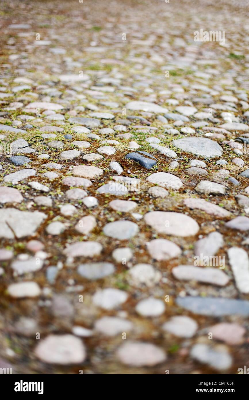 Full frame of cobblestones - Stock Image