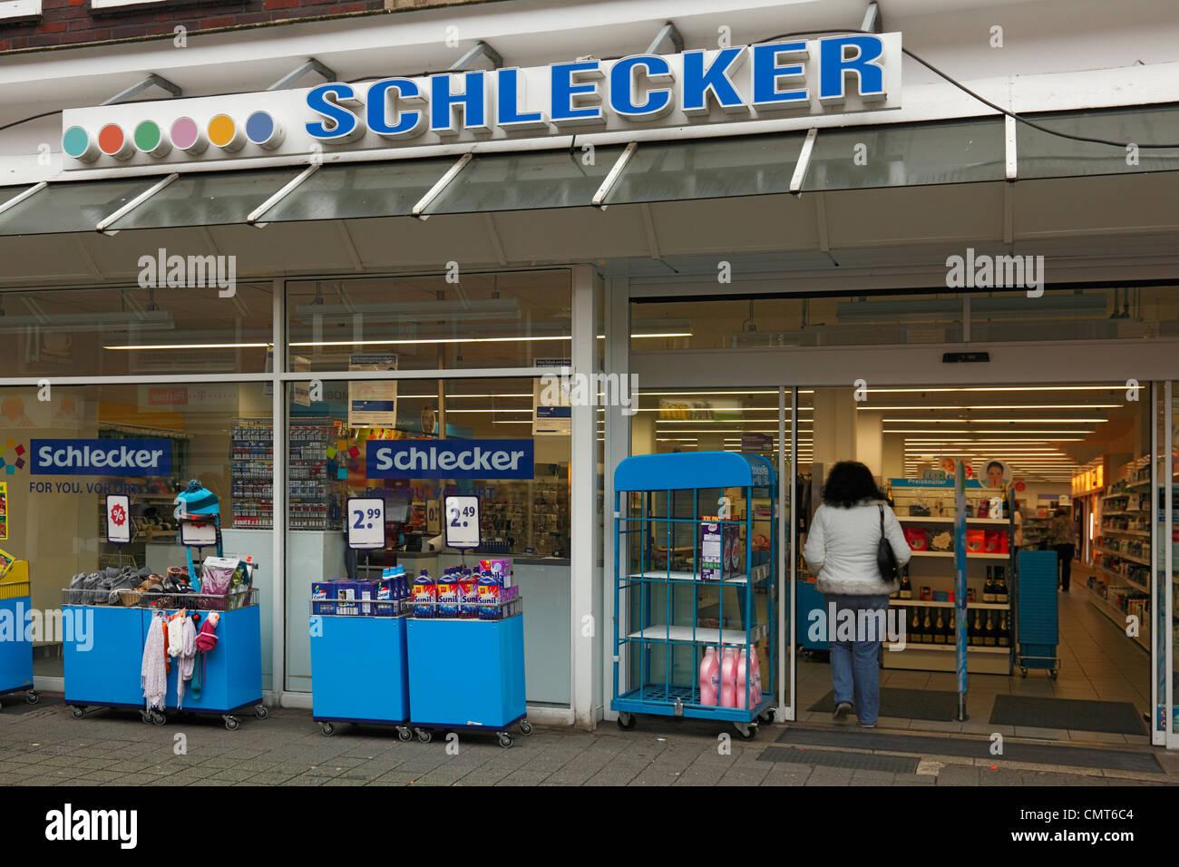 insolvency drugstore Schlecker, mass dismissal, department store, retail shop, retail store chain, drugstore chain, - Stock Image