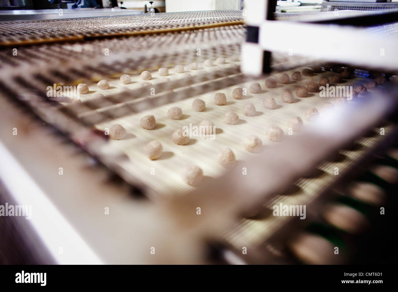 View of conveyor belt - Stock Image