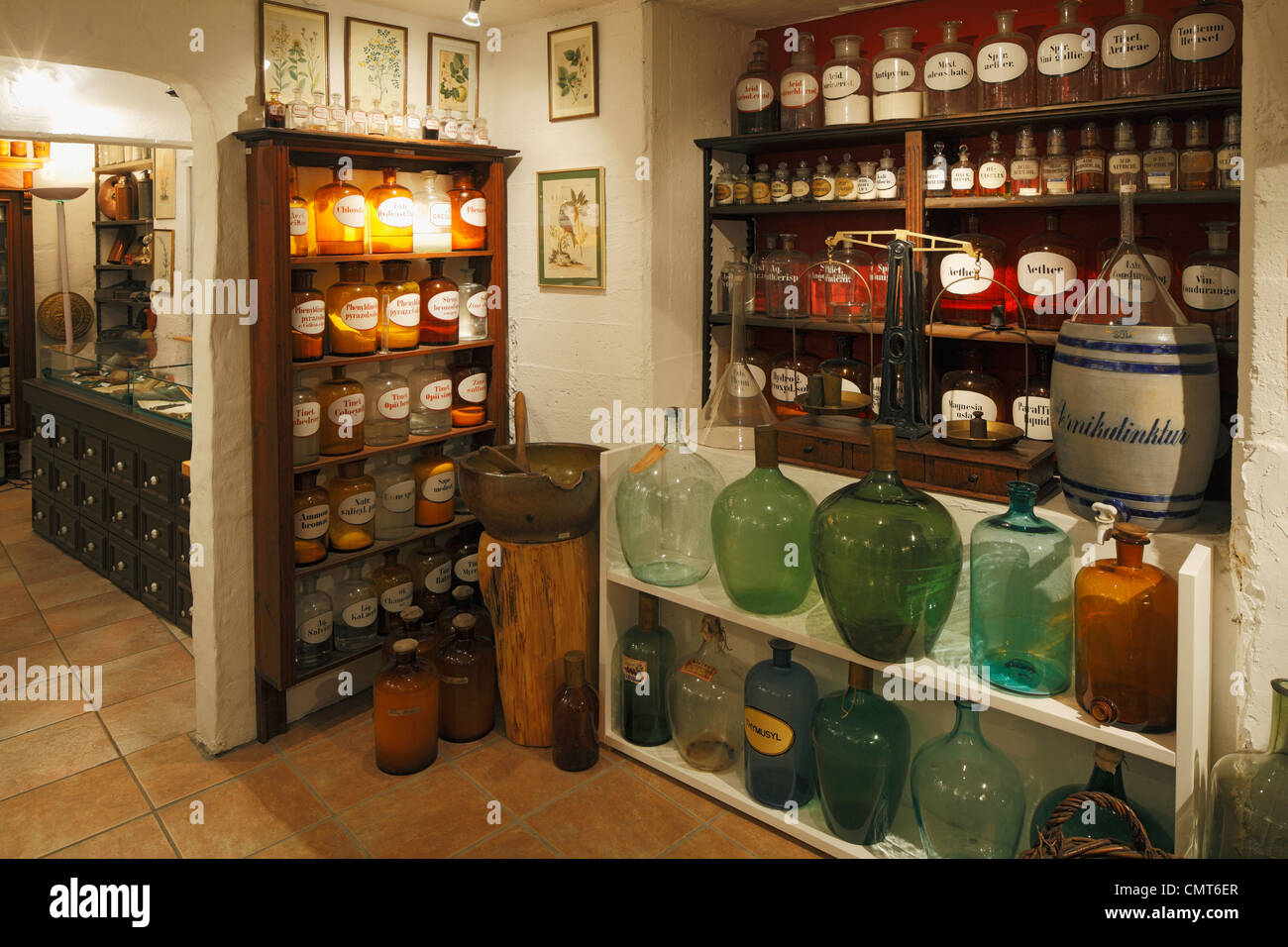 D-Dortmund, Ruhr area, Westphalia, North Rhine-Westphalia, NRW, Adler pharmacy, pharmacy museum - Stock Image