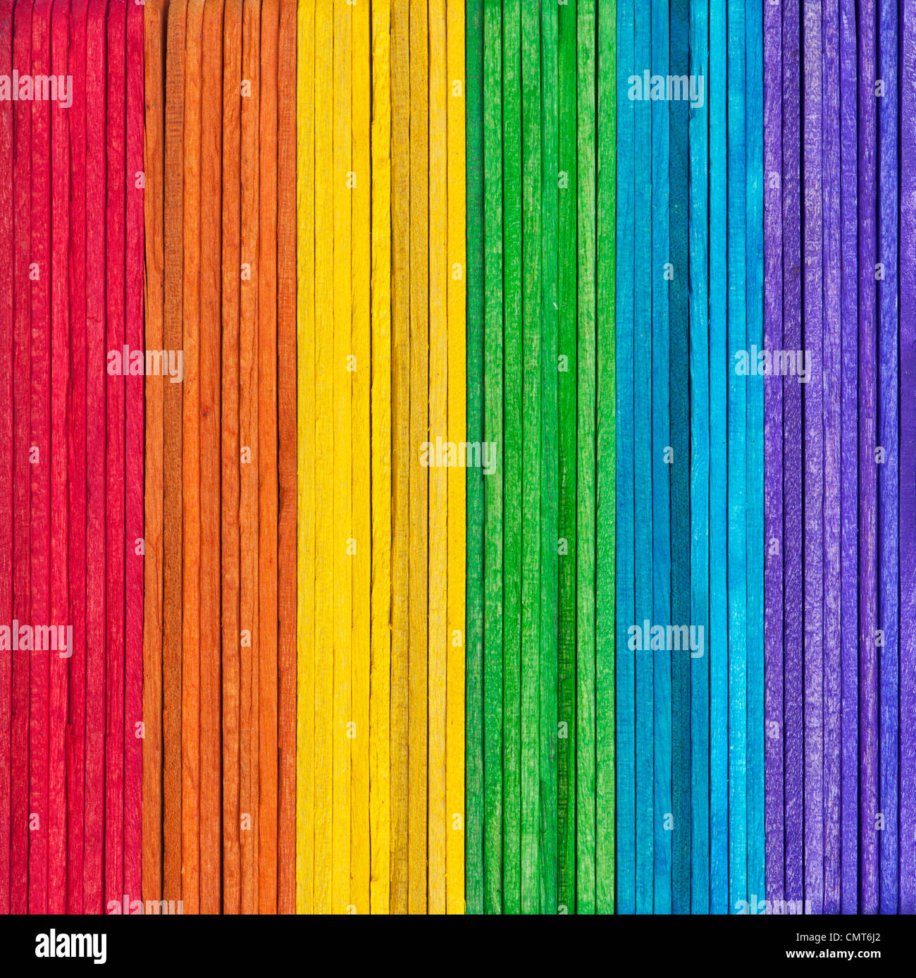 Multicoloured rainbow stick patternbri - Stock Image
