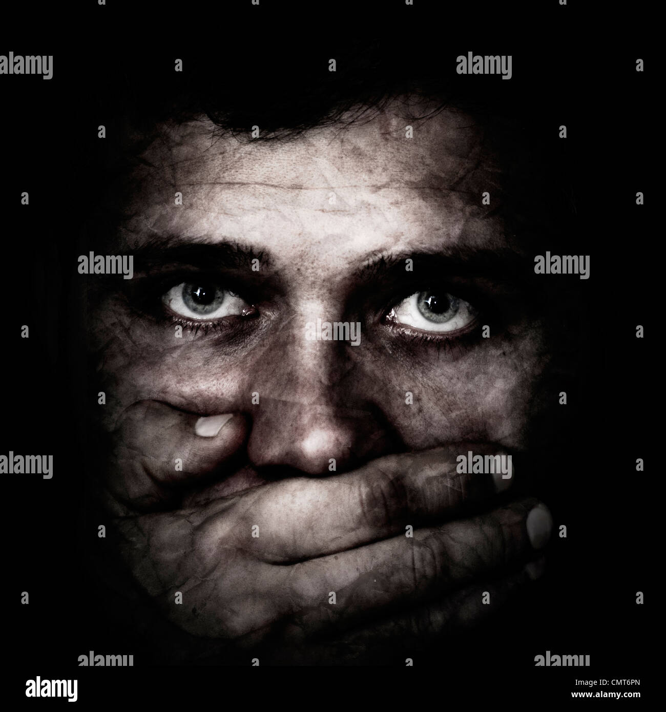 Concept about the Human Trafficking - Stock Image