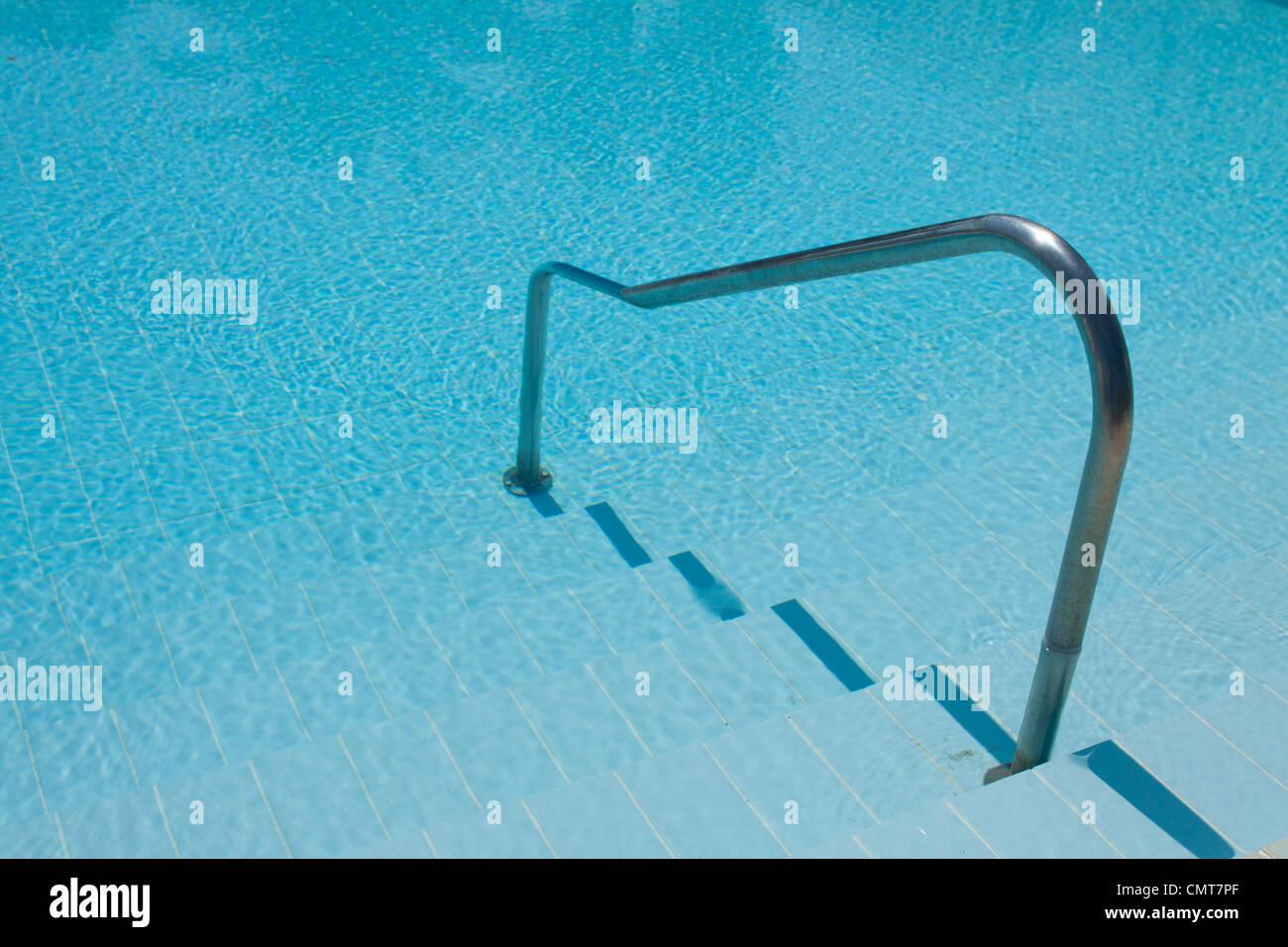 Swimming pool steps rail Stock Photo: 47246823 - Alamy