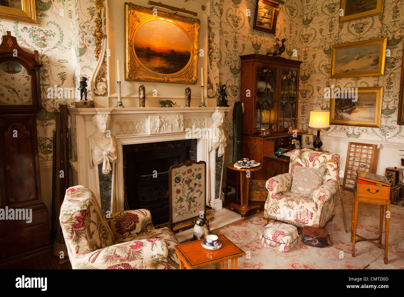 UK, England, Bedfordshire, Woburn Abbey interior, the Flying Duchess' Room - Stock Image