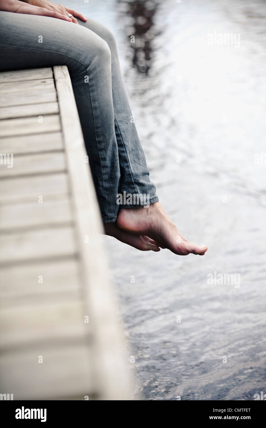 Close-up of human legs - Stock Image