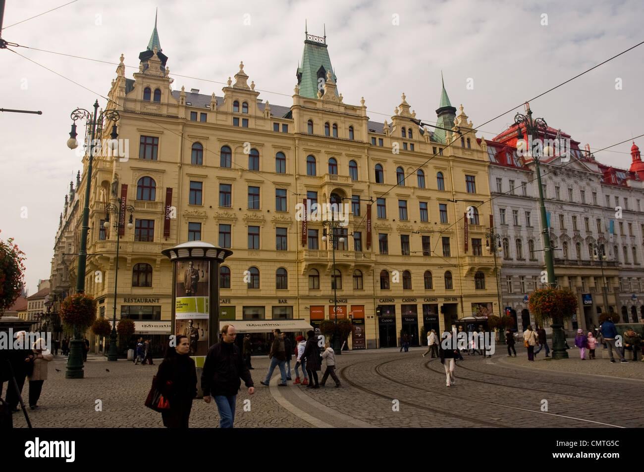 Streets of Prague - Stock Image
