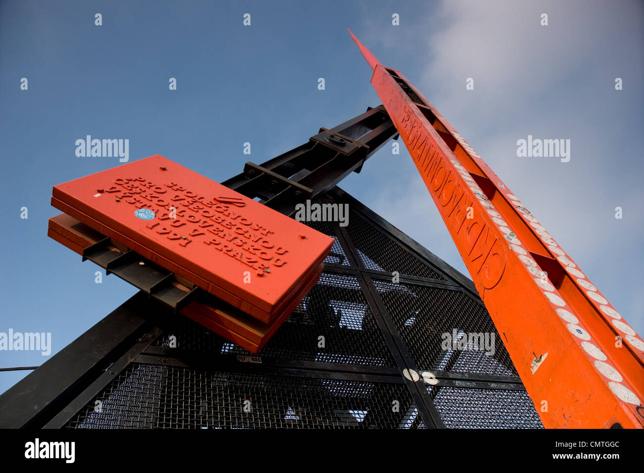 The metronome at Letna Hill in Prague, Czecz Republic - Stock Image