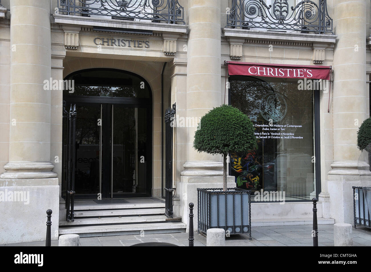 Christies Gallery Paris France - Stock Image