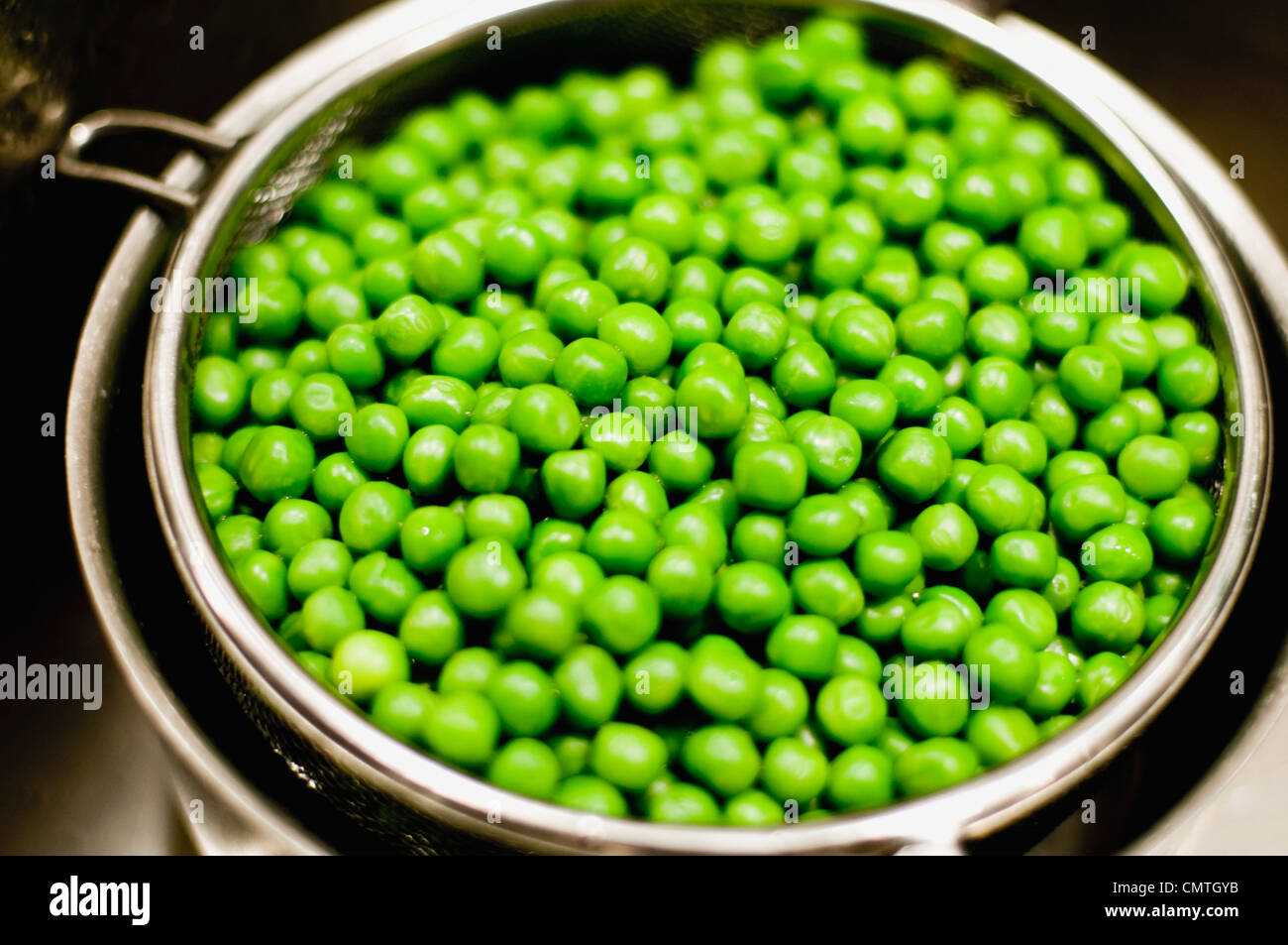 Close-up of green peas - Stock Image