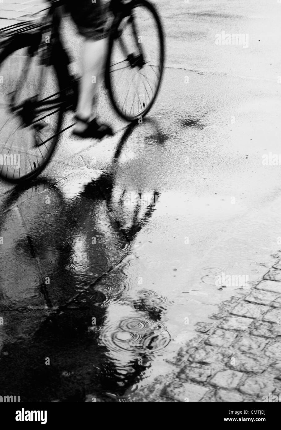 Bicycle on street - Stock Image