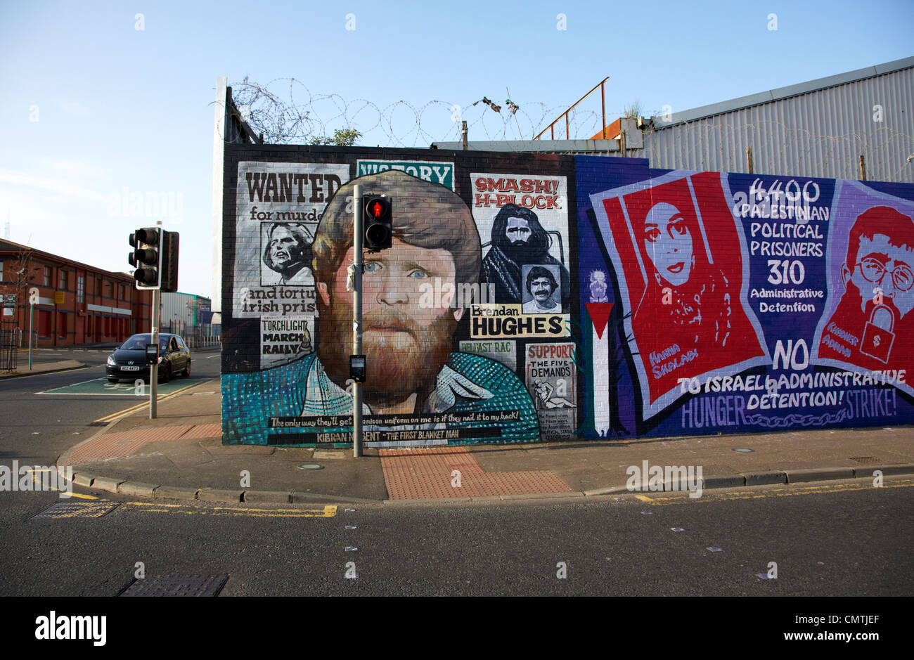 international wall murals lower falls road belfast northern ireland uk - Stock Image