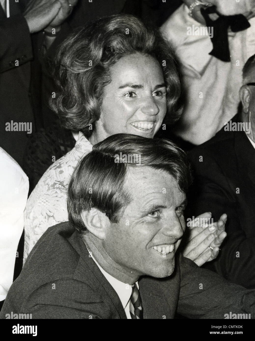 ROBERT 'Bobby' KENNEDY (1925-1968) US politician with his wife Ethel - Stock Image