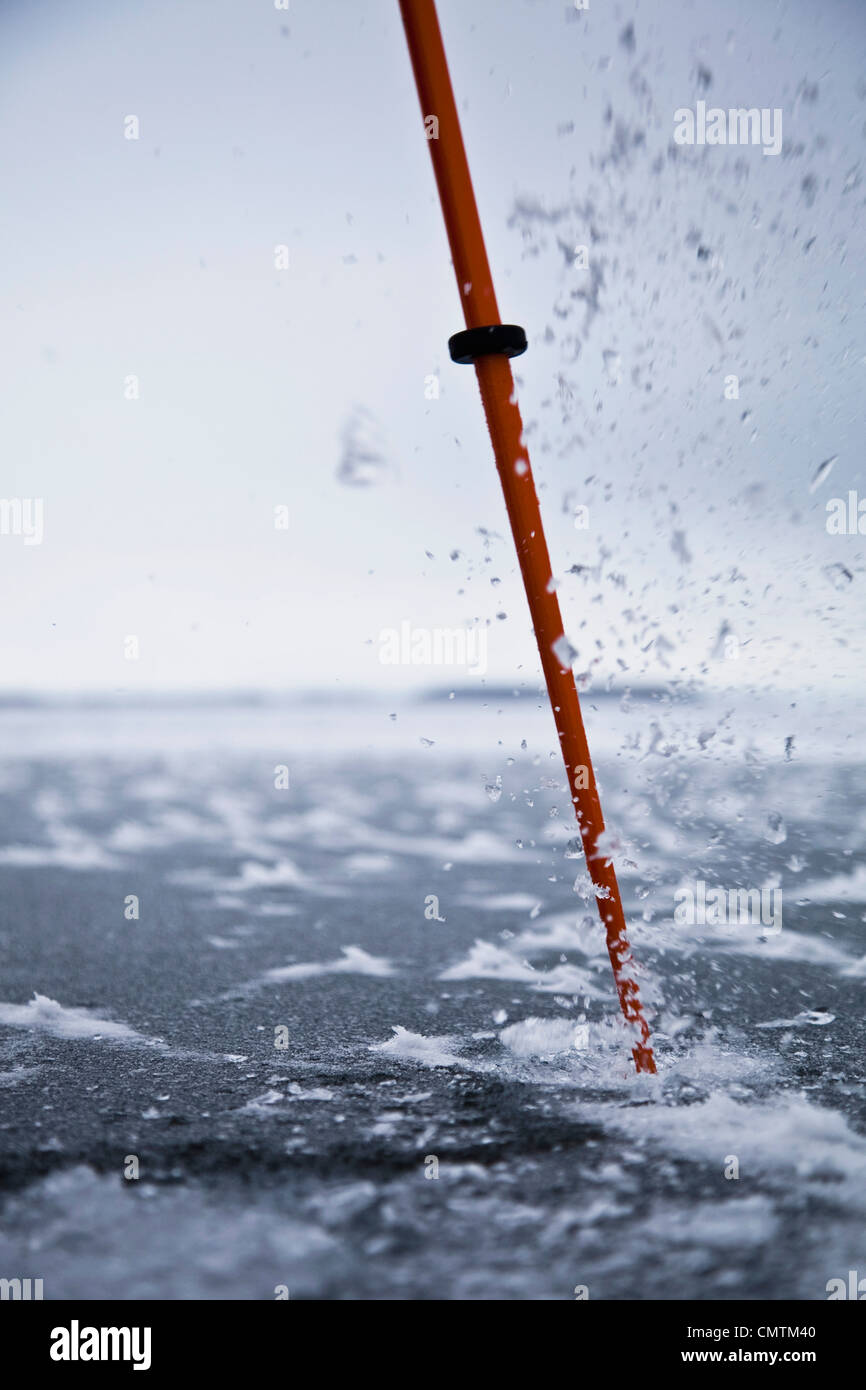 Close-up ice pick - Stock Image
