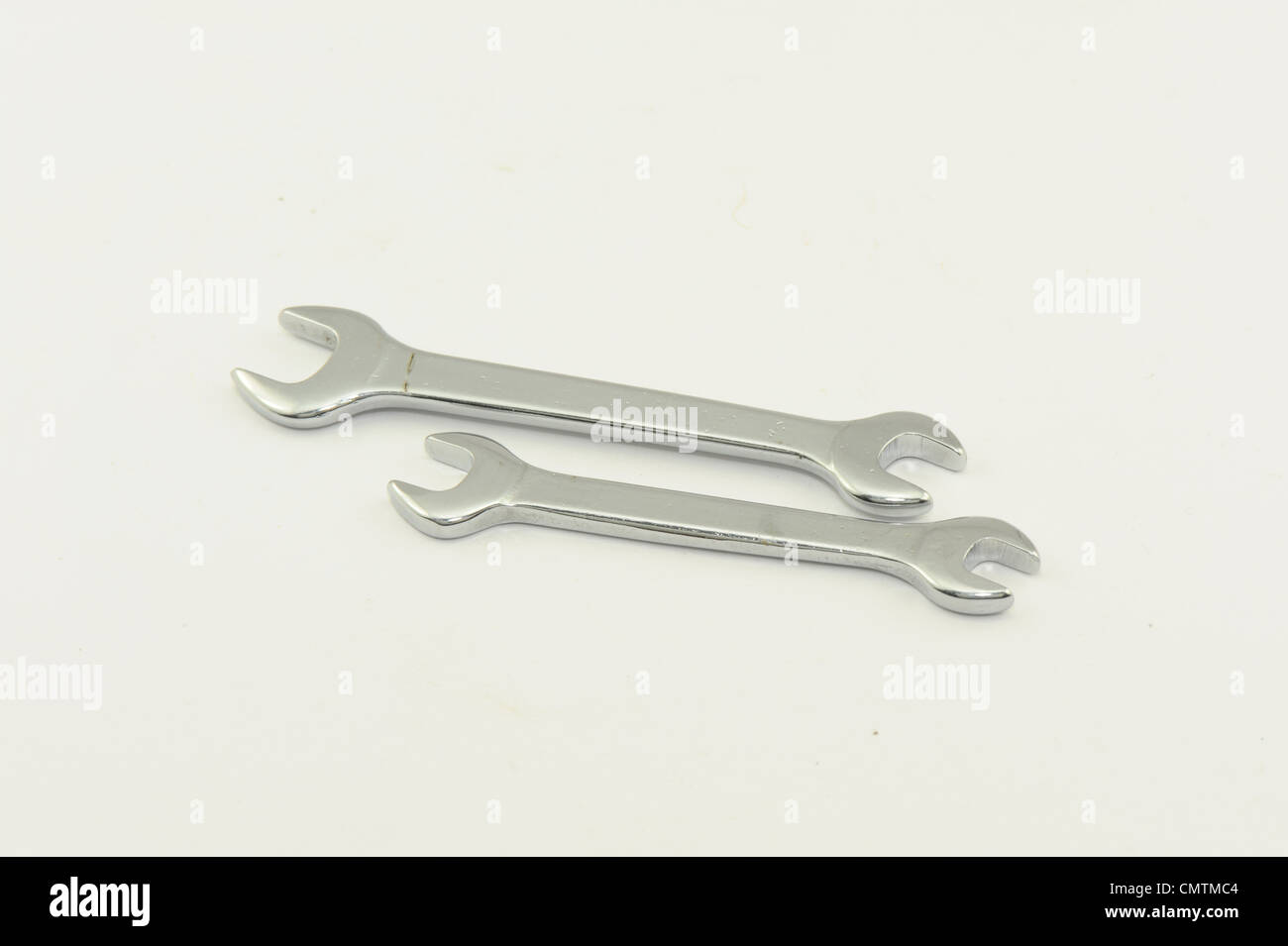 tool mini spanners taken on a white background - Stock Image