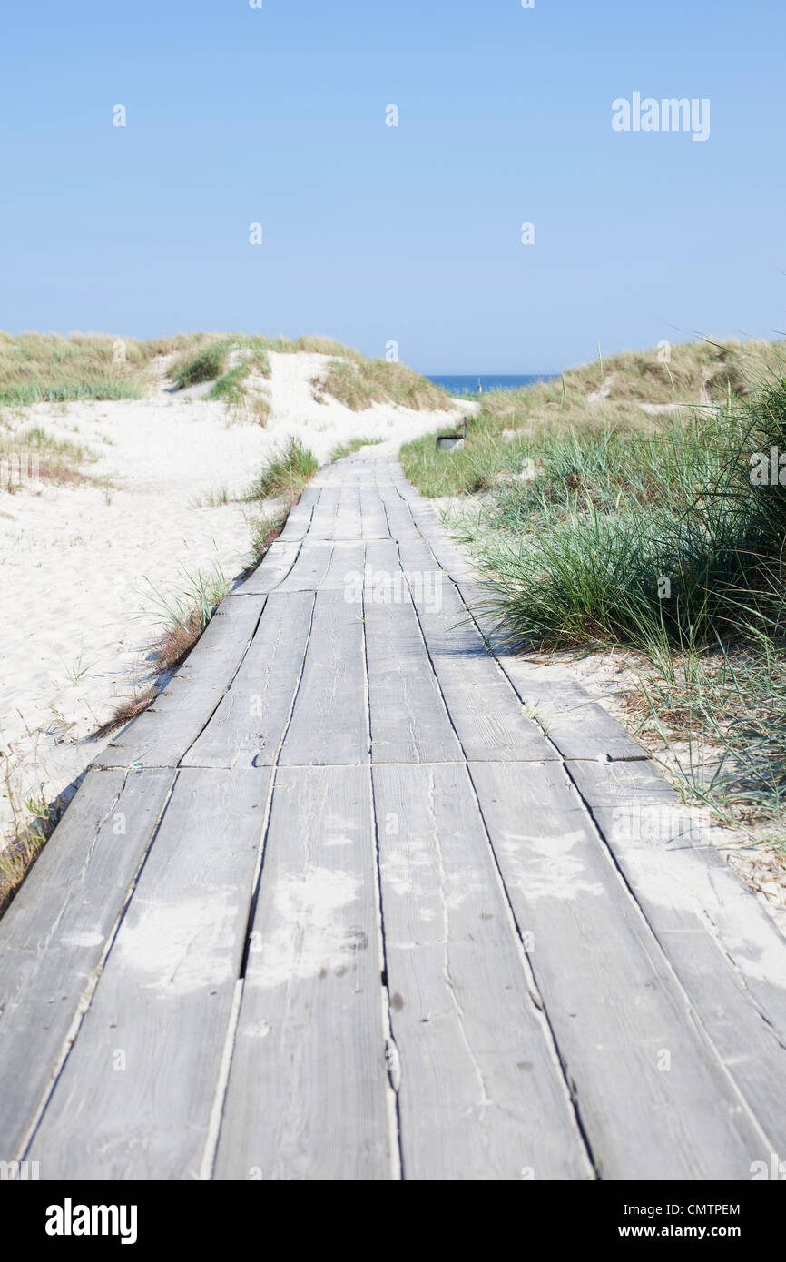 The way forward towards sea - Stock Image