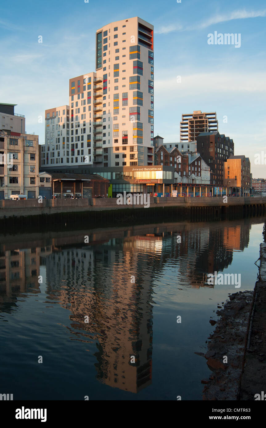 Jerwood Dance House dominates the new skyline at Ipswich Marina. Suffolk. East Anglia. England. - Stock Image