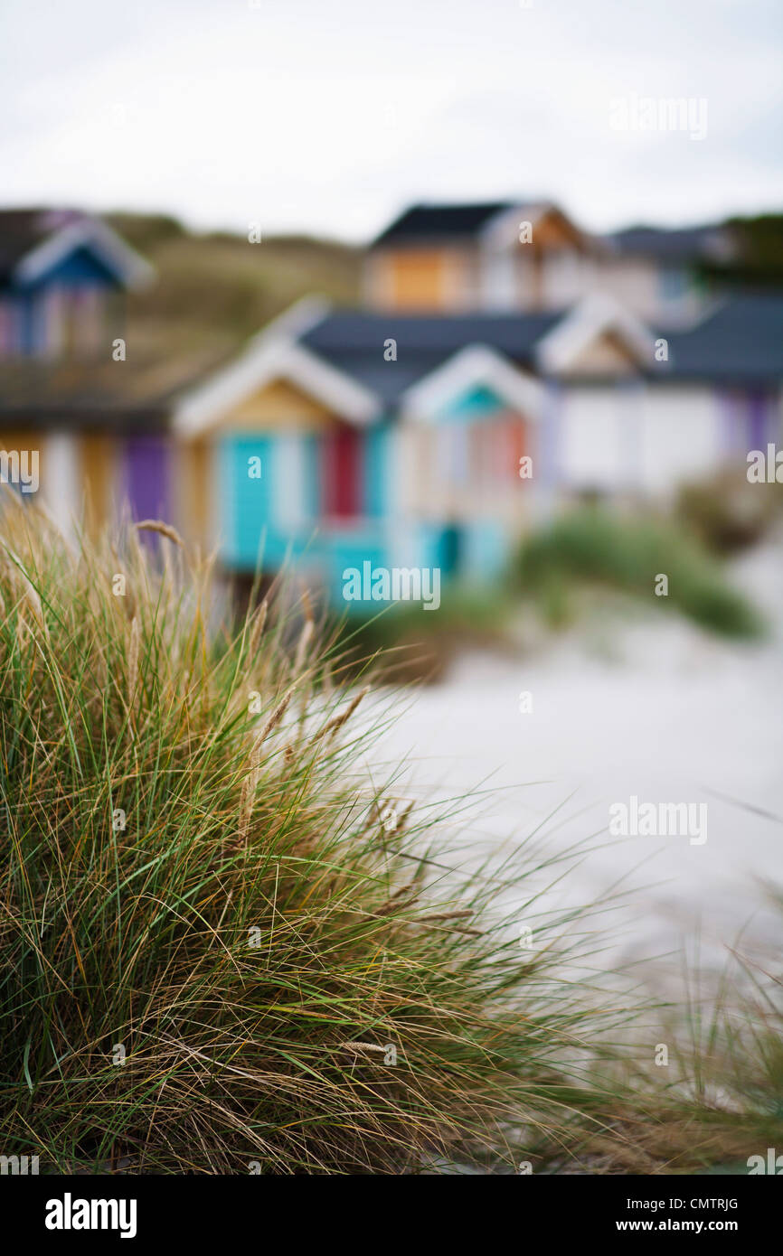 Blurry picture of cottages - Stock Image