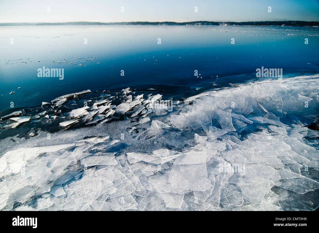 Broken ice - Stock Image