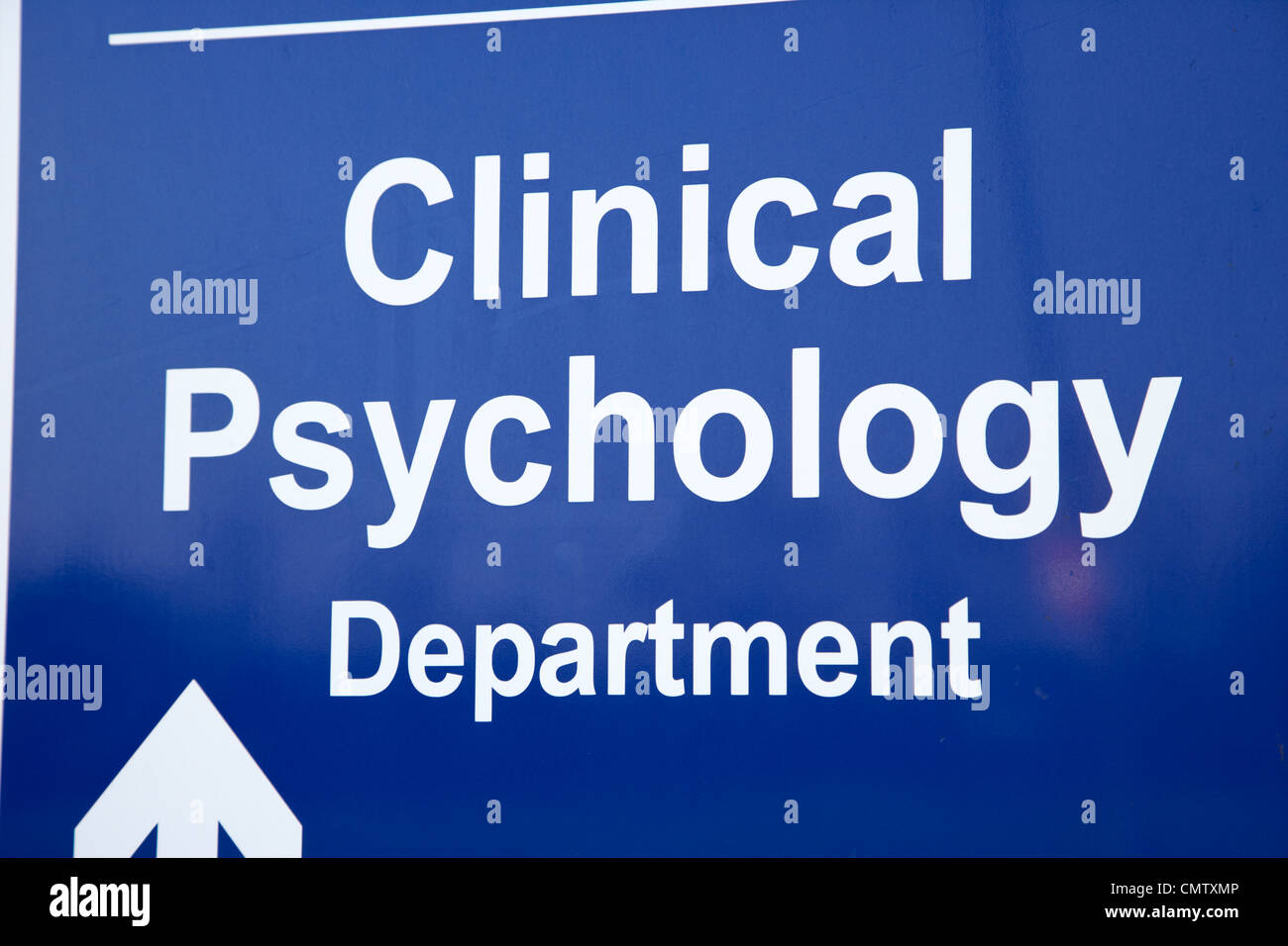 signpost for hospital clinical psychology department uk united kingdom - Stock Image