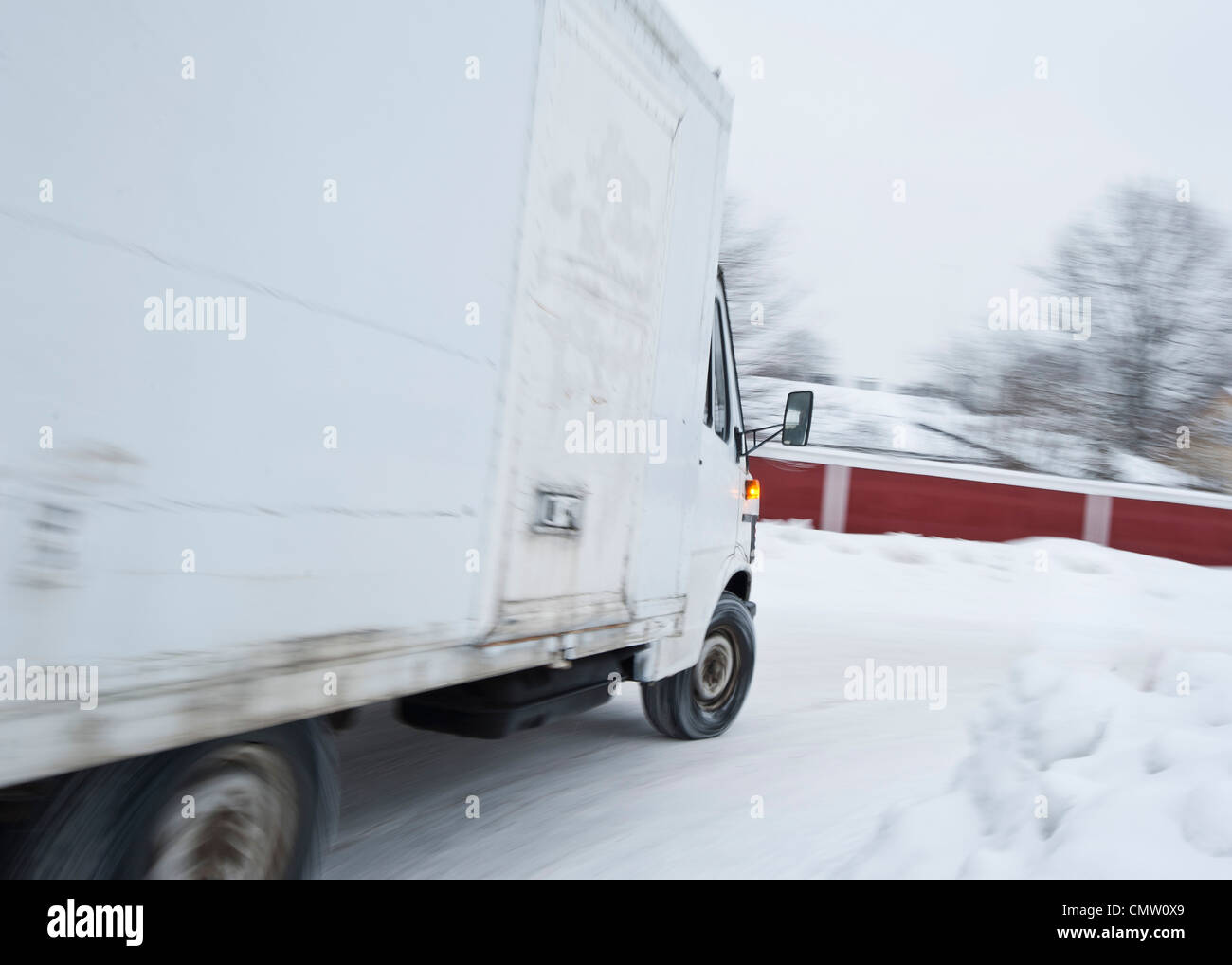Pickup truck on the go - Stock Image