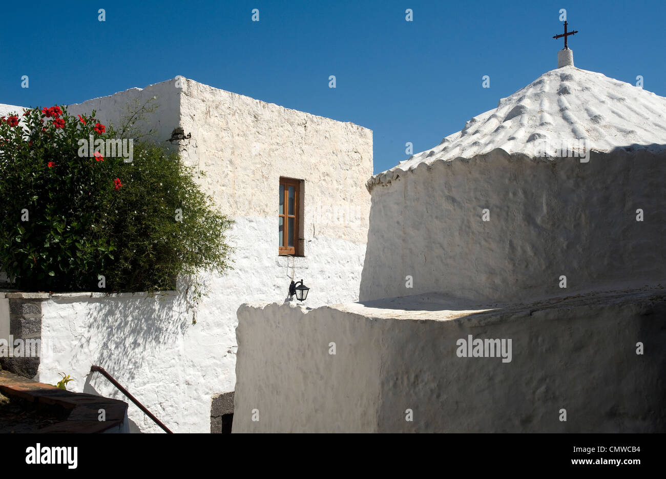 Cave of the Apocalypse. Island of Patmos, Dodecanese, Greece - Stock Image
