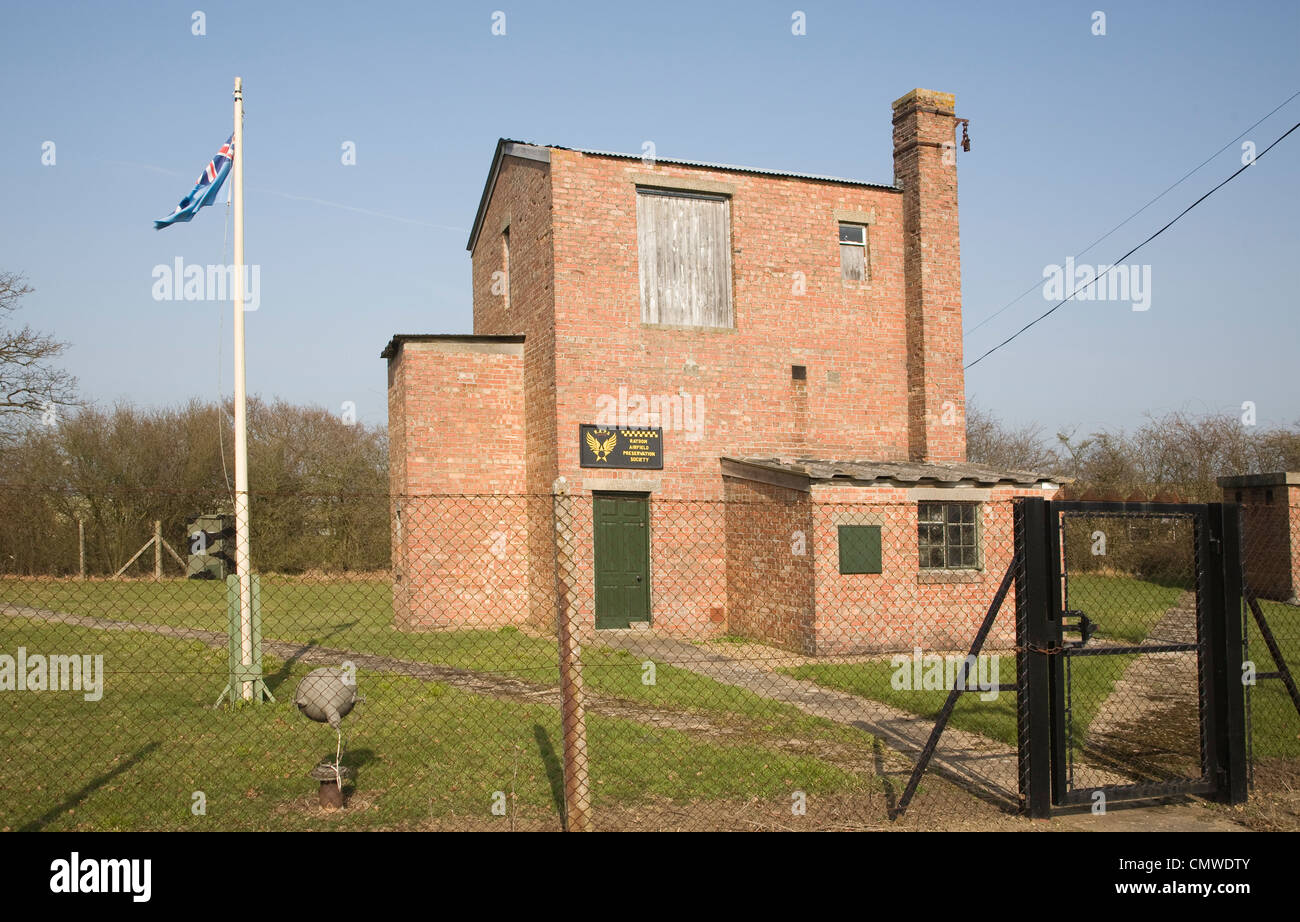 Raydon airfield preservation society building, Raydon, Suffolk, England - Stock Image
