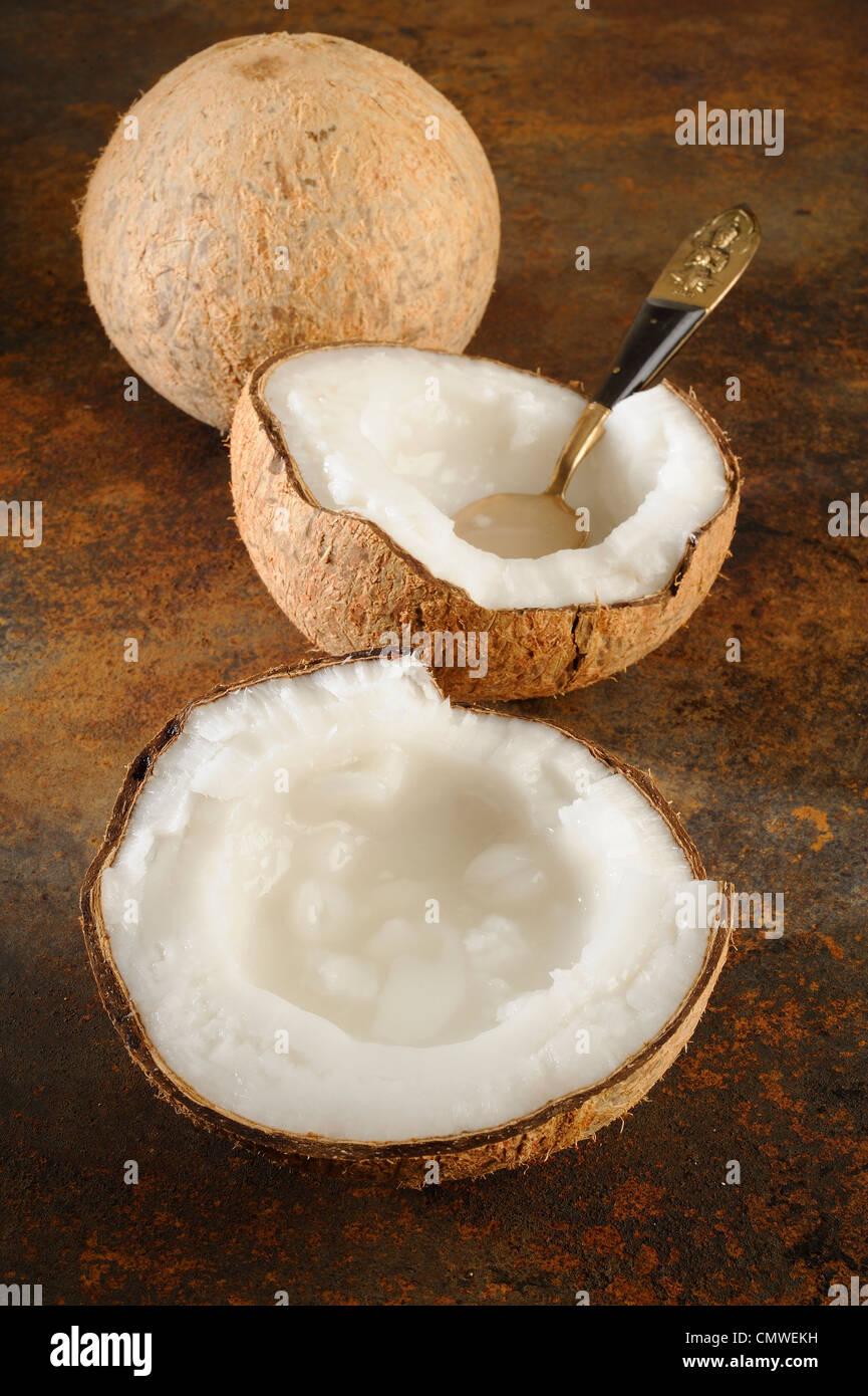 coconut creamed ingredient for thai dessert - Stock Image