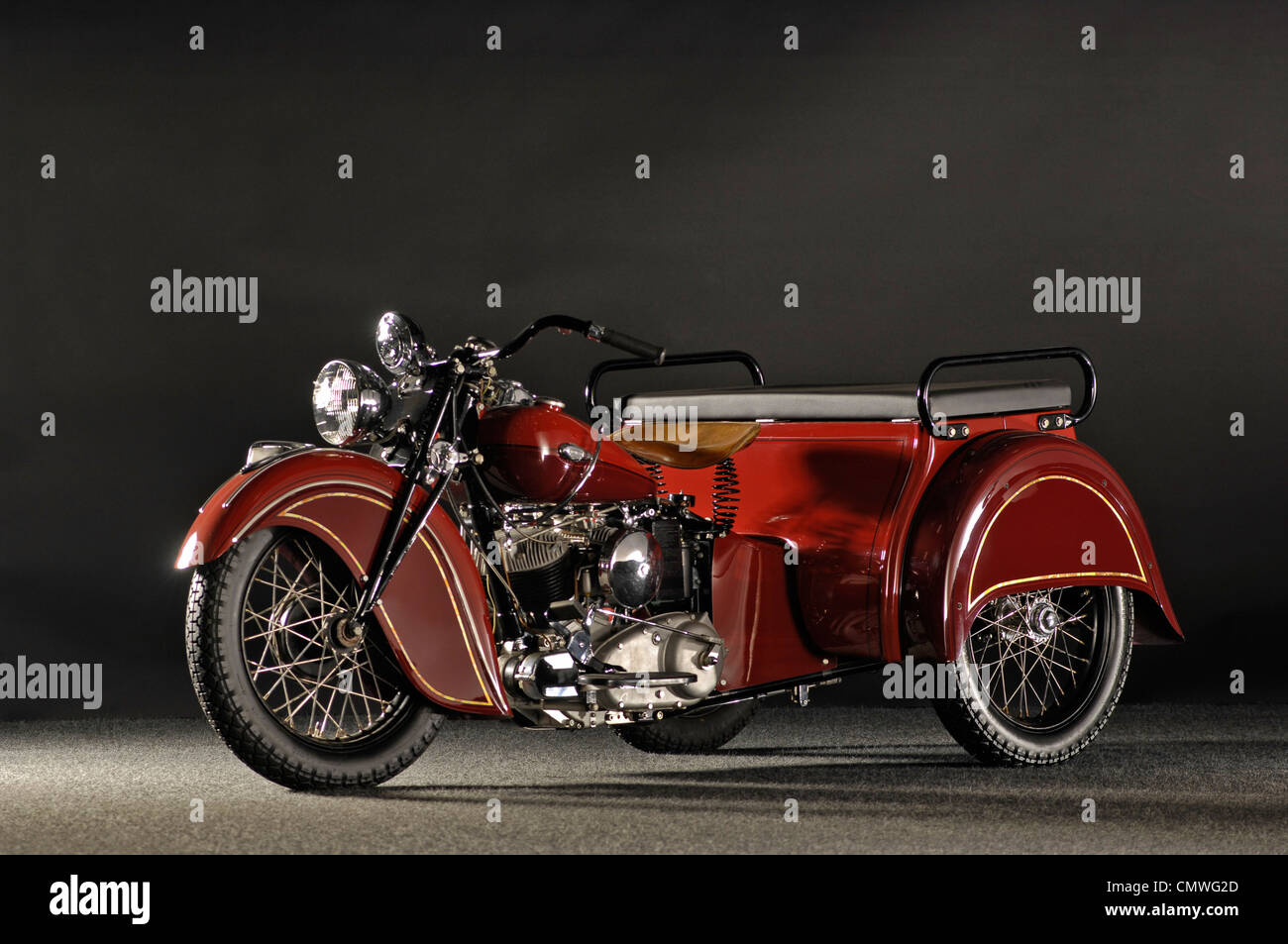 1940 Indian despatch tow 3 wheeler - Stock Image