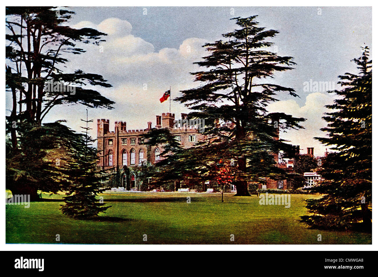 1905 Cassiobury House Watford Hertfordshire England Park UK - Stock Image