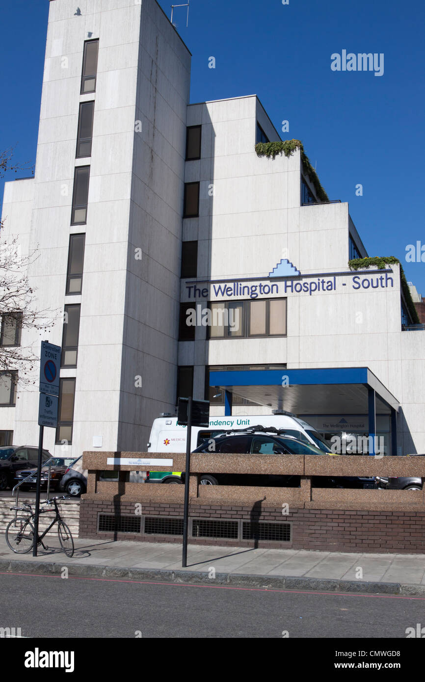 The Wellington Hospital, a private hospital in St Johns Wood, London, England, UK - Stock Image