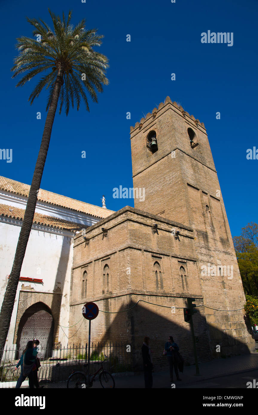 Gothic and Mudejar style Iglesia de Santa Catalina church Seville Andalusia Spain - Stock Image