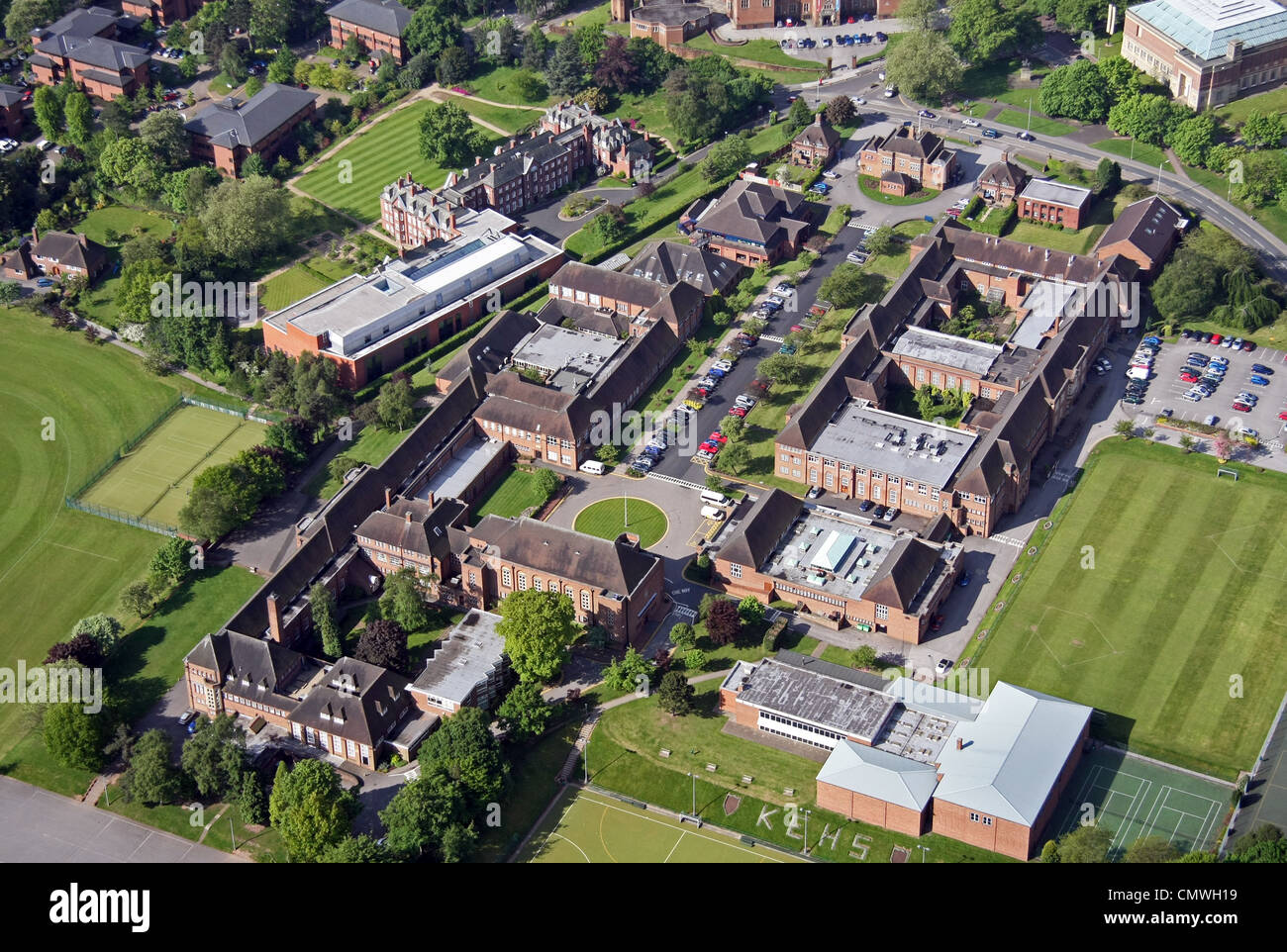 Aerial View Of King Edward High School Birmingham Stock