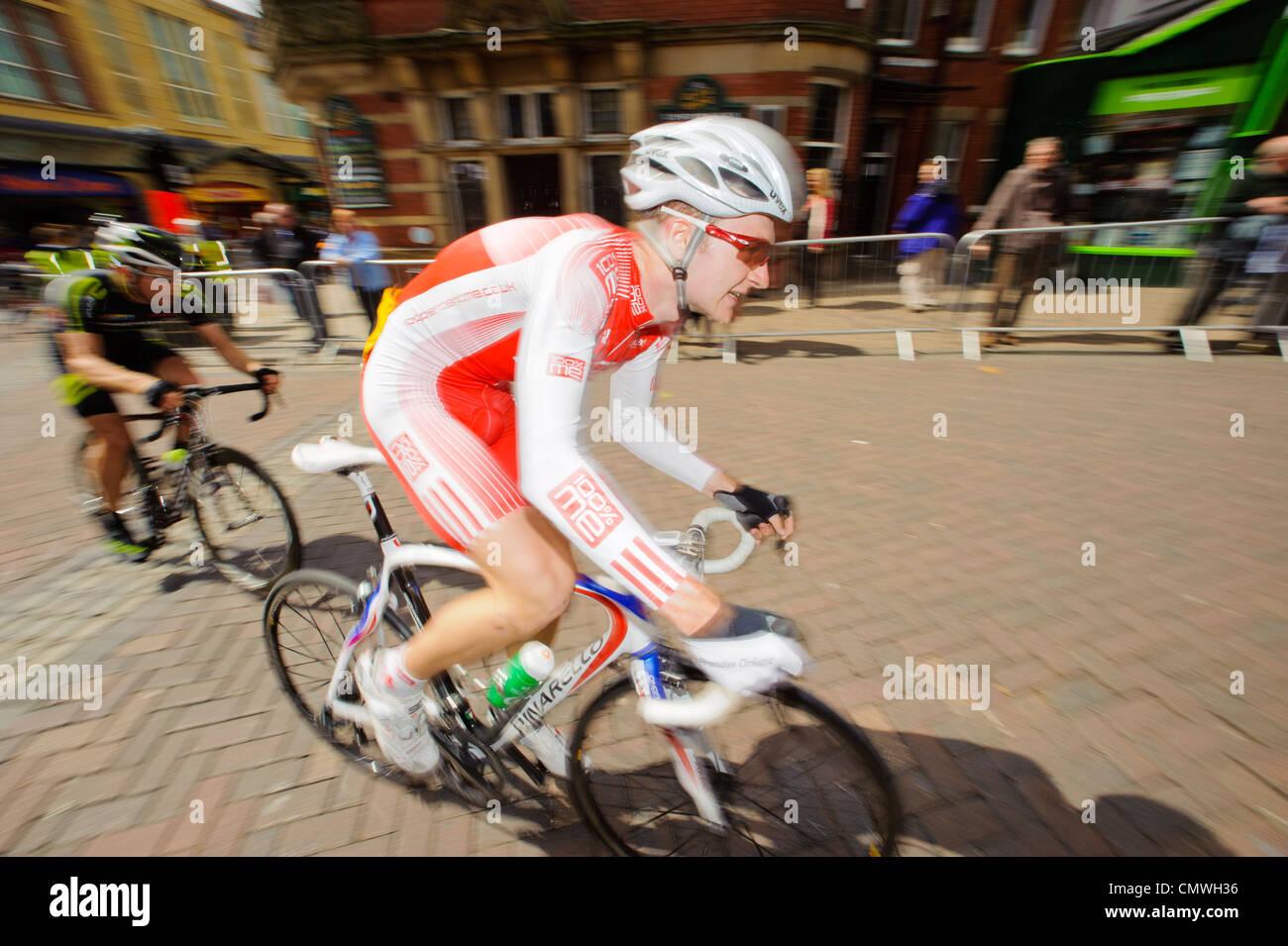 Riders in 2011 Preston Grand Prix Cycle Race, Preston, Lancashire - Stock Image