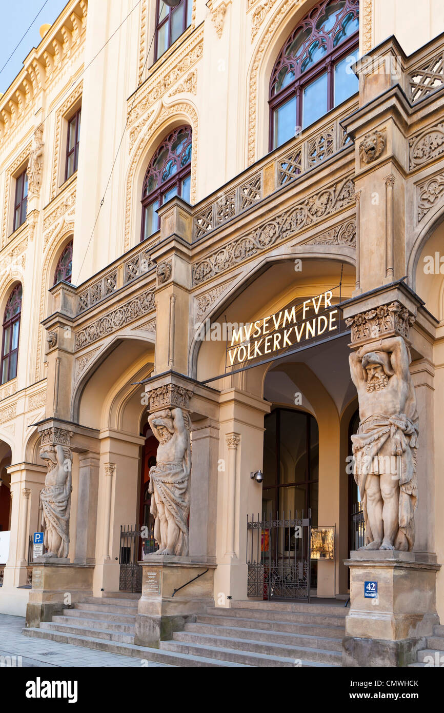 State Museum of Ethnology in Munich, Bavaria, Germany, Europe - Stock Image