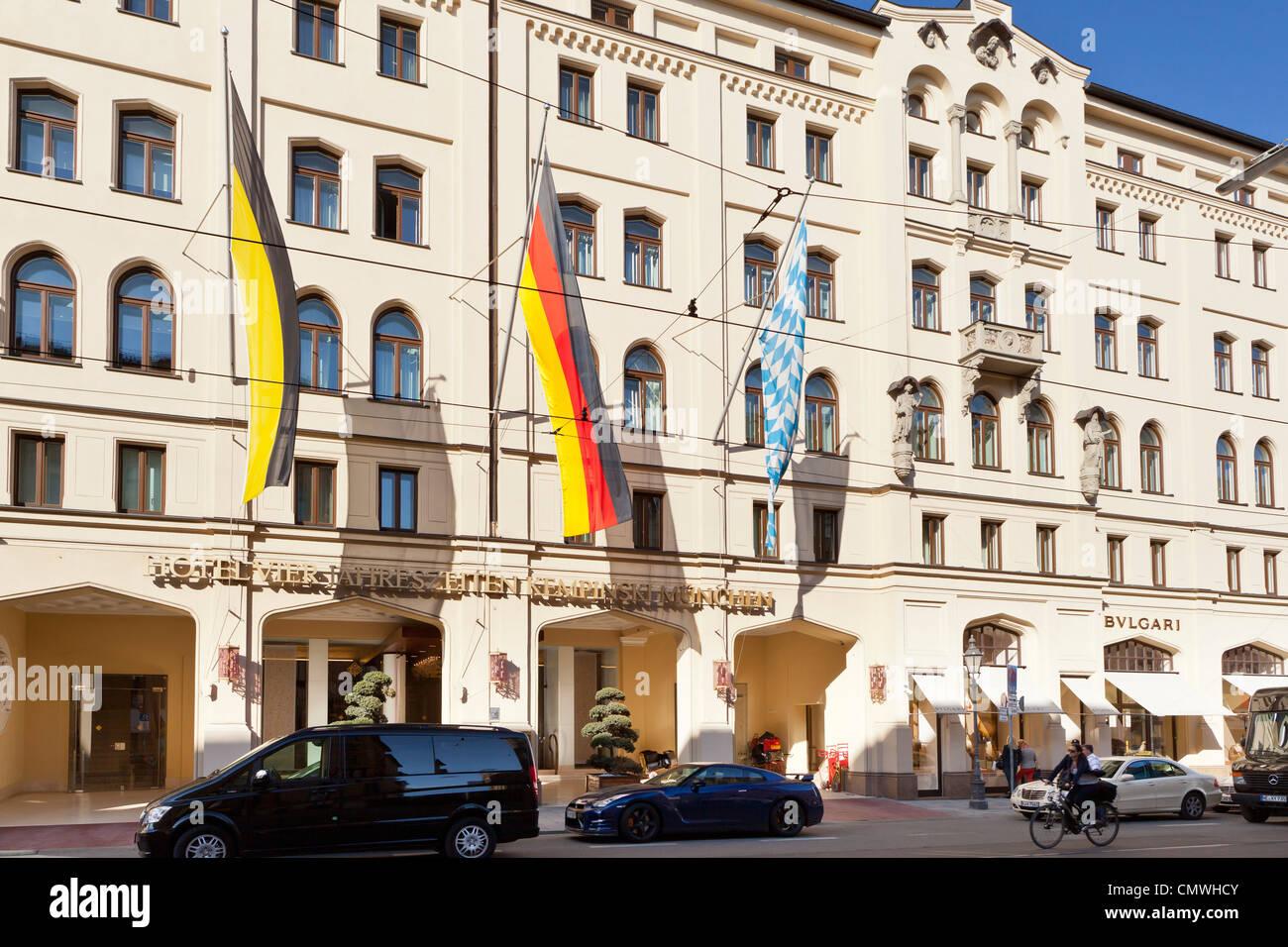 Hotel Four Seasons (Vier Jahreszeiten)/ Kempinski in the Maximiliansstreet, Munich, Bavaria, Germany, Europe Stock Photo