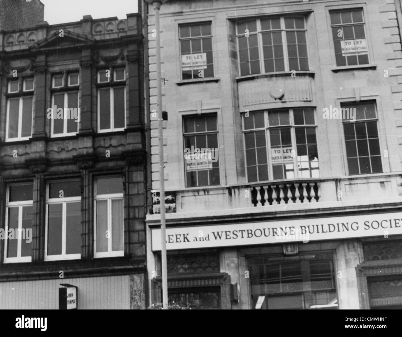 Leek and Westbourne Building Society, Queen Square, Wolverhampton, circa 1991. The premises of the Leek and Westbourne - Stock Image