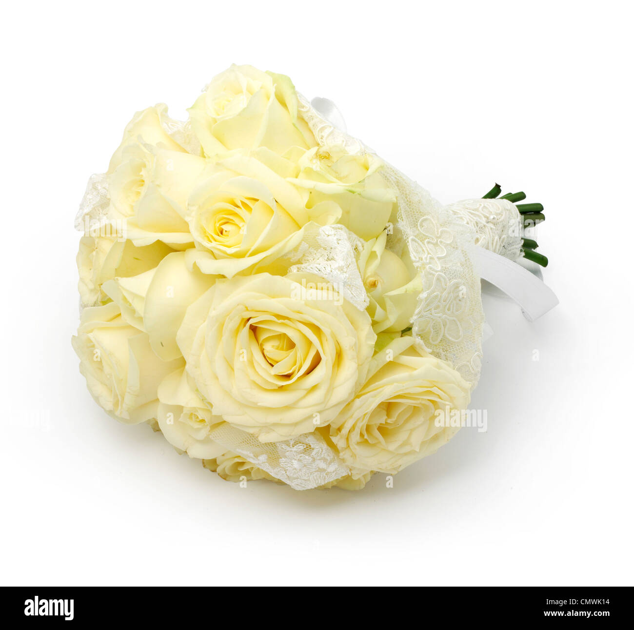 One bouquet wedding flowers - Stock Image
