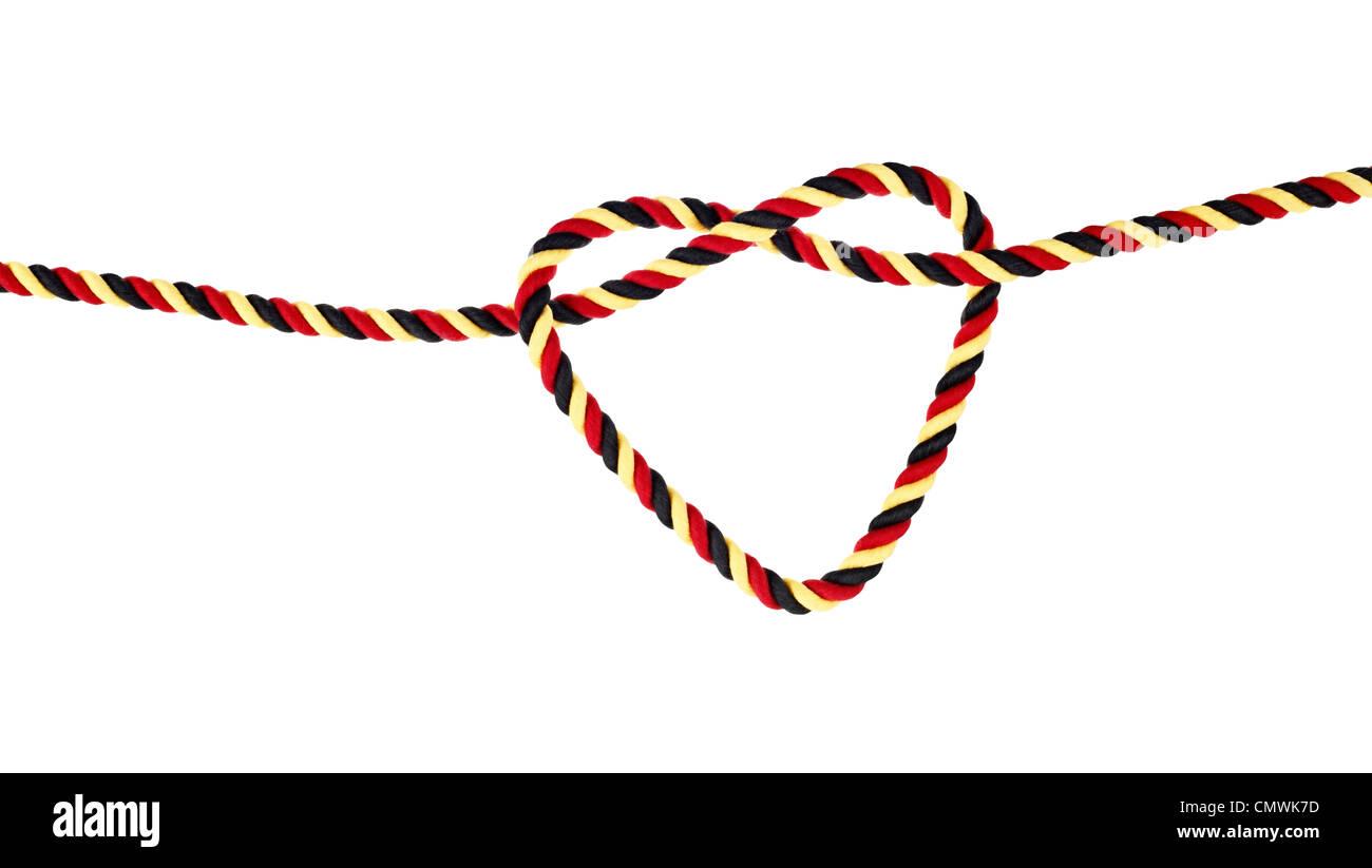 Seil in Deutschlandfarben - Stock Image